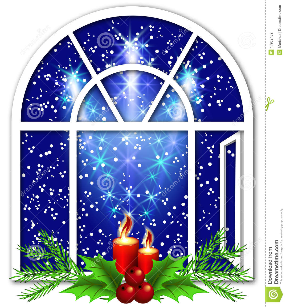 Christmas window with candles royalty free stock images image