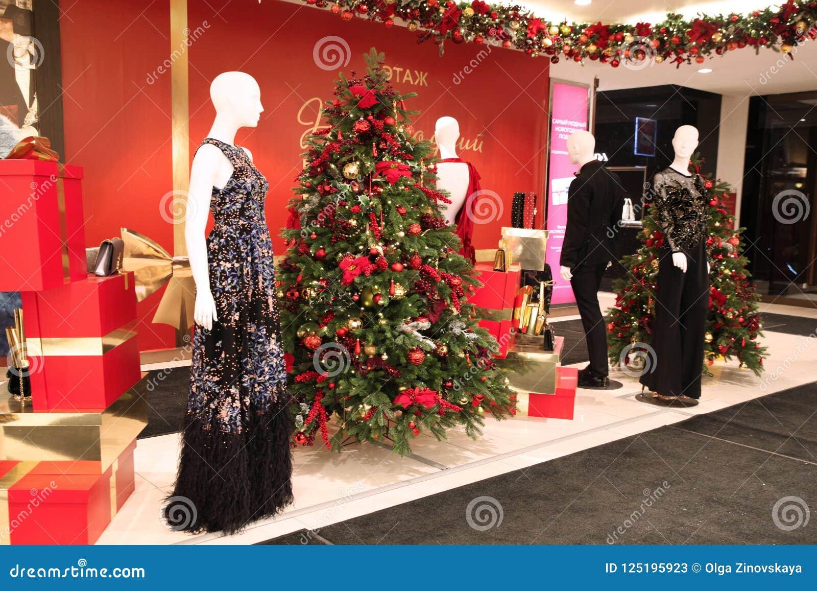 Christmas Decoration Shop Window Tsum Moscow 19 12 2017 Editorial