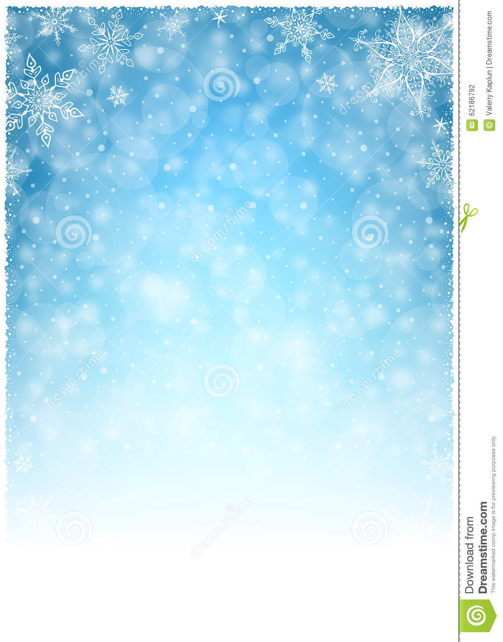 christmas winter frame illustration christmas white blue empty background portrait stock vector illustration of banner poster 62186792 dreamstime com