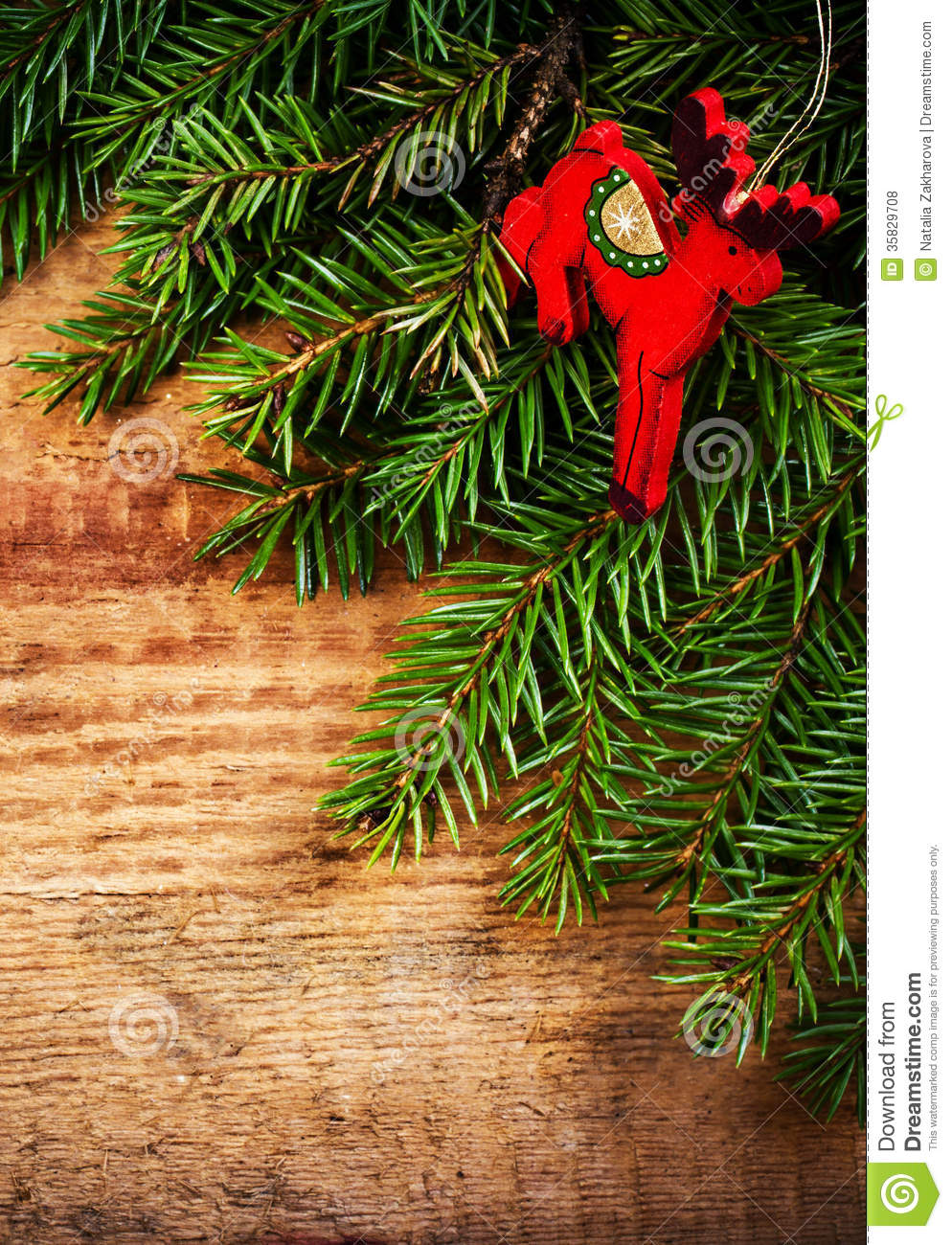 Christmas Winter Holiday Decoration On Wood Background ...