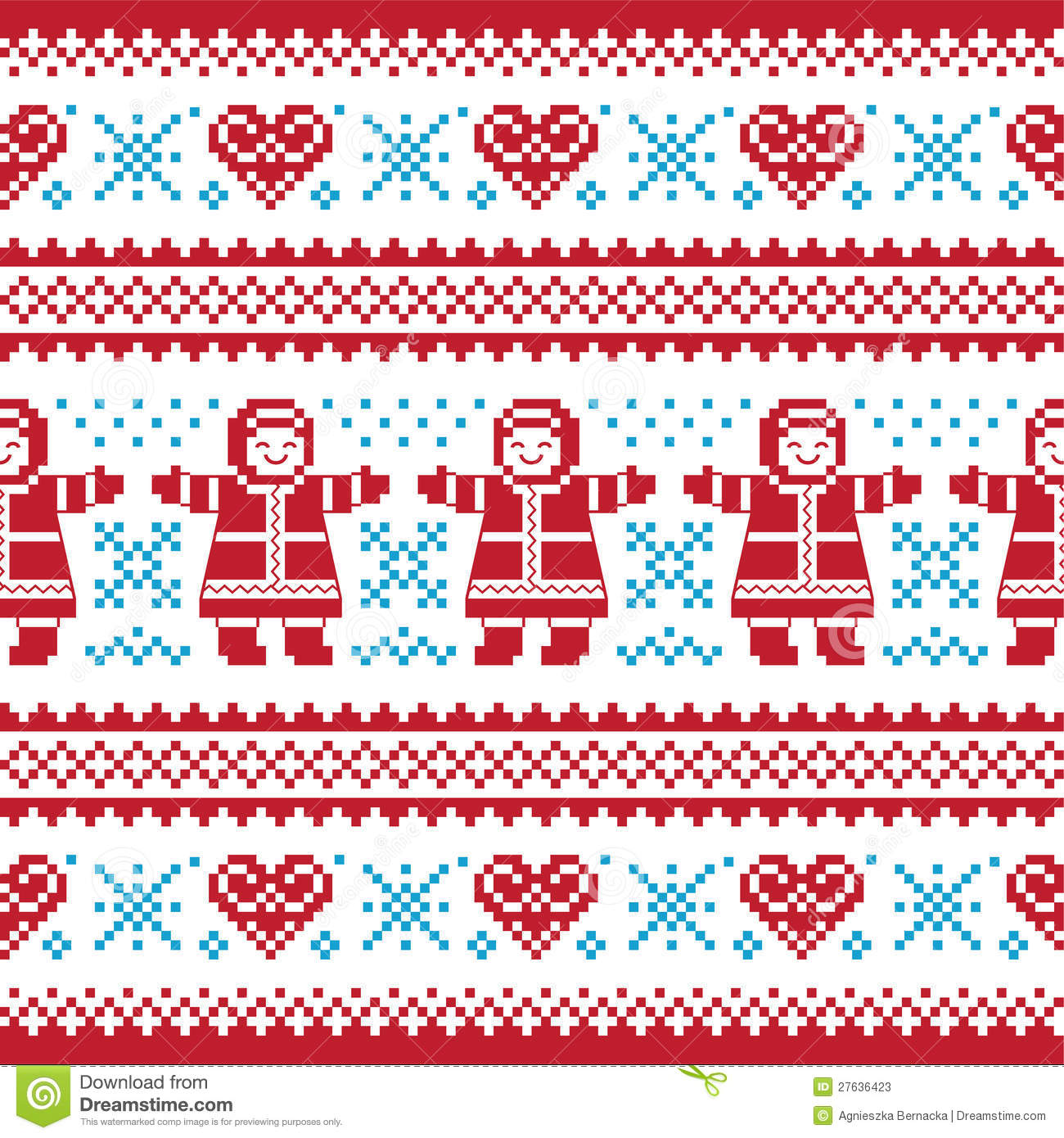 Knitting Patterns For Christmas Cards : Christmas, Winter Knitted Pattern, Card Stock Photos - Image: 27636423