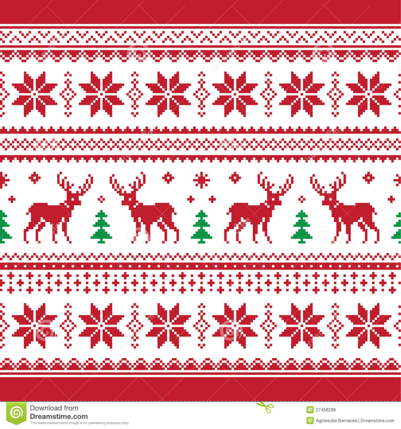 christmas and winter knitted seamless pattern or c