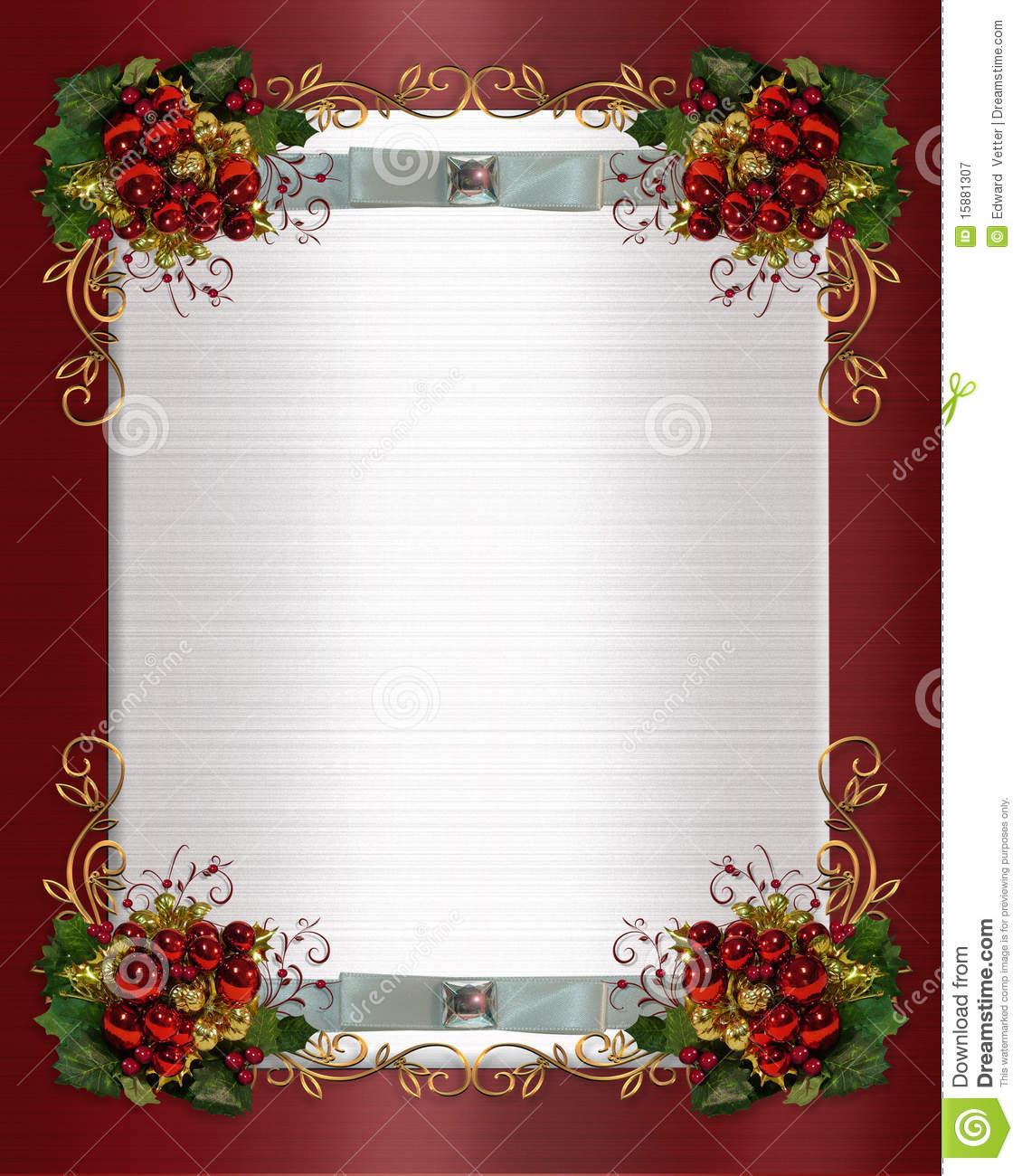 composition for Christmas card, party invitation, template, Border ...