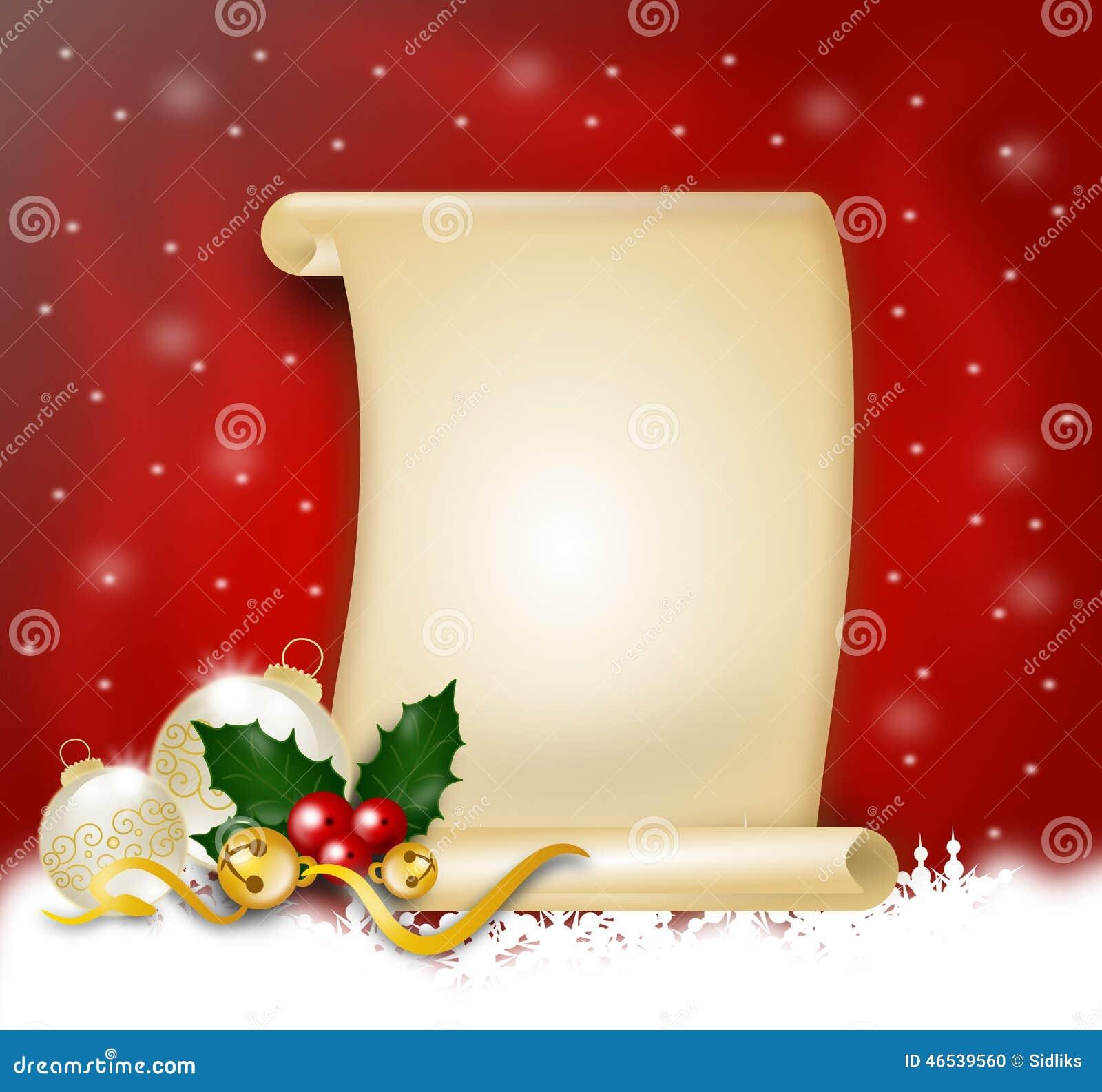 Christmas Wish List Stock Illustration Image 46539560