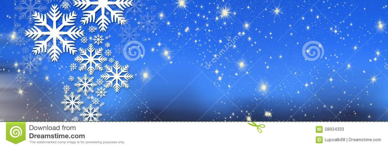 Christmas wishes, bow with stars and snow, background