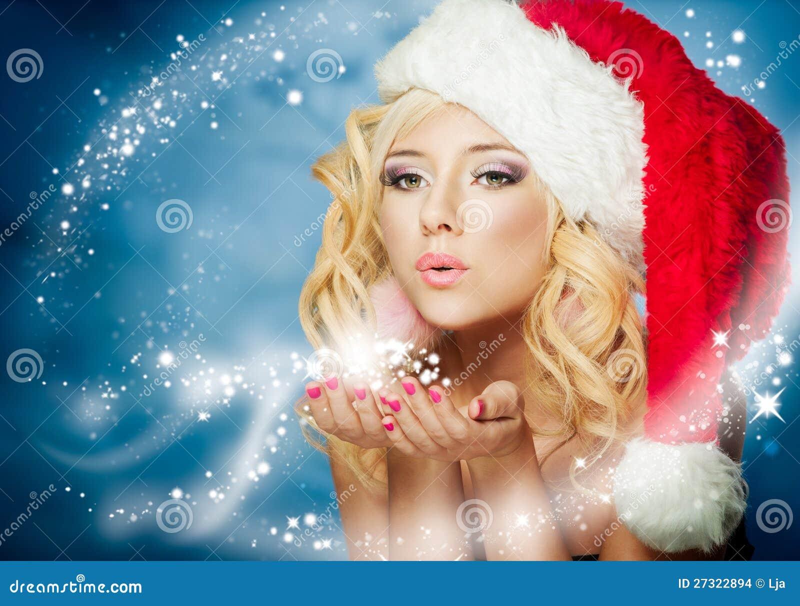 Christmas Woman Stock Images Image 27322894