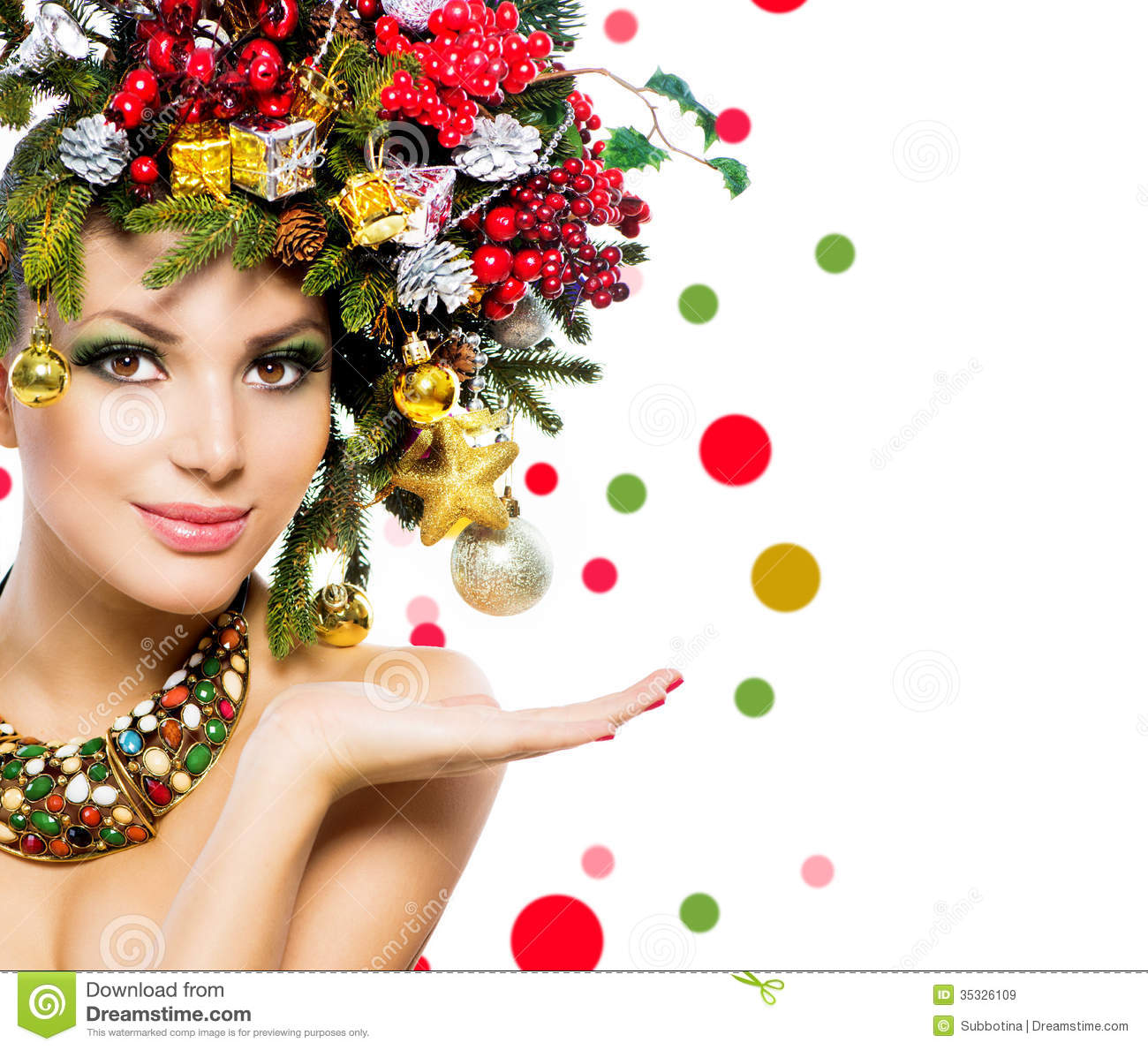 Christmas Woman Royalty Free Stock Images Image 35326109