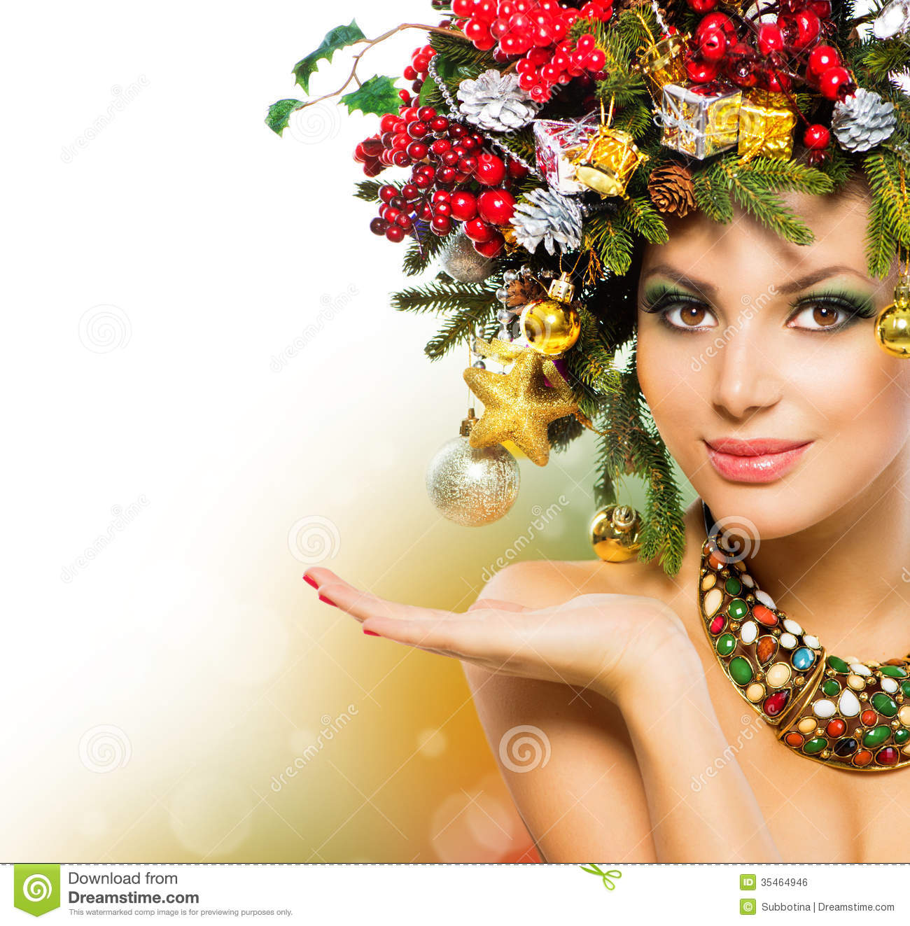 Christmas Woman Stock Photo Image Of Funny Background