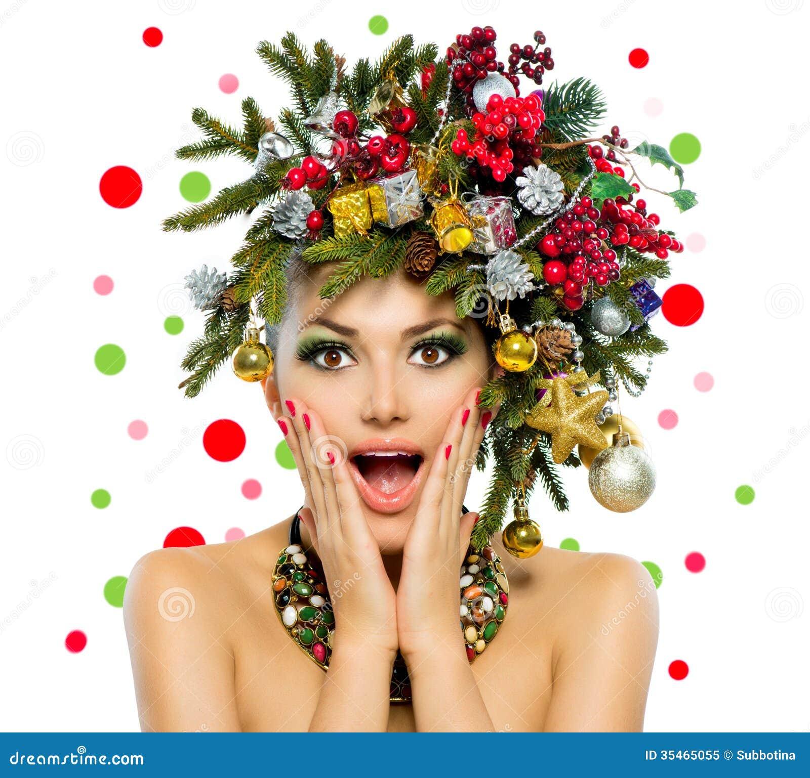 Christmas Woman Stock Image Image Of Copyspace