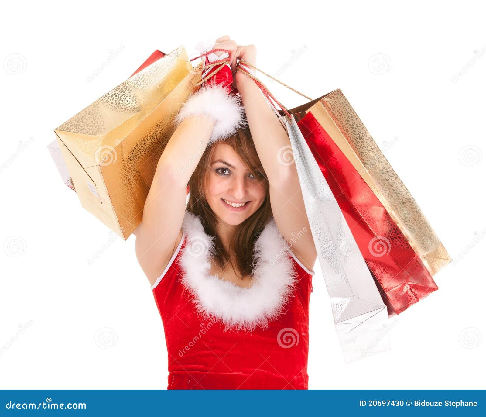 Christmas Woman Shopping Stock Photo Image 20697430