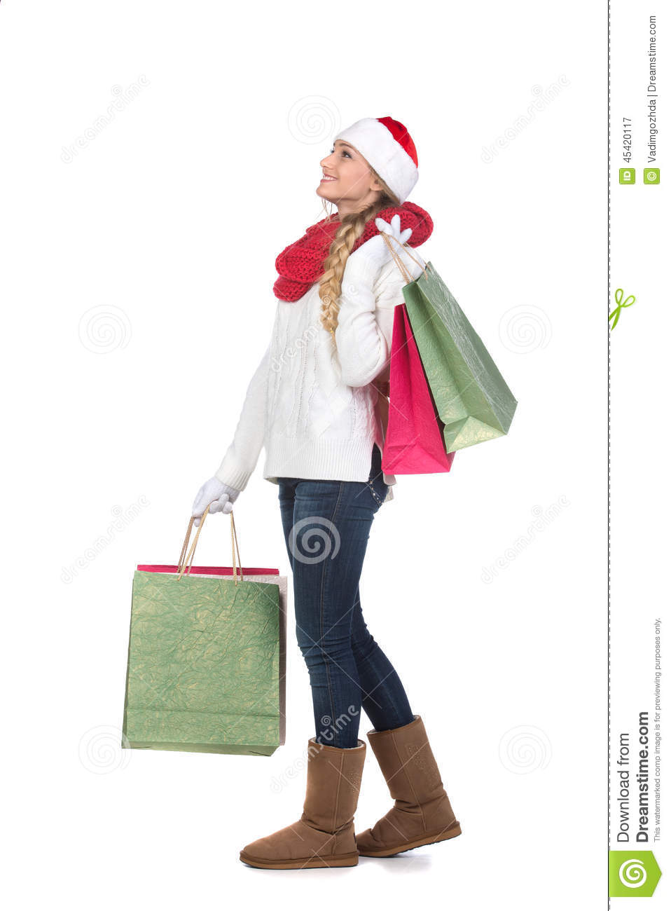 Christmas women stock image. Image of person, happy, fashion - 45420117