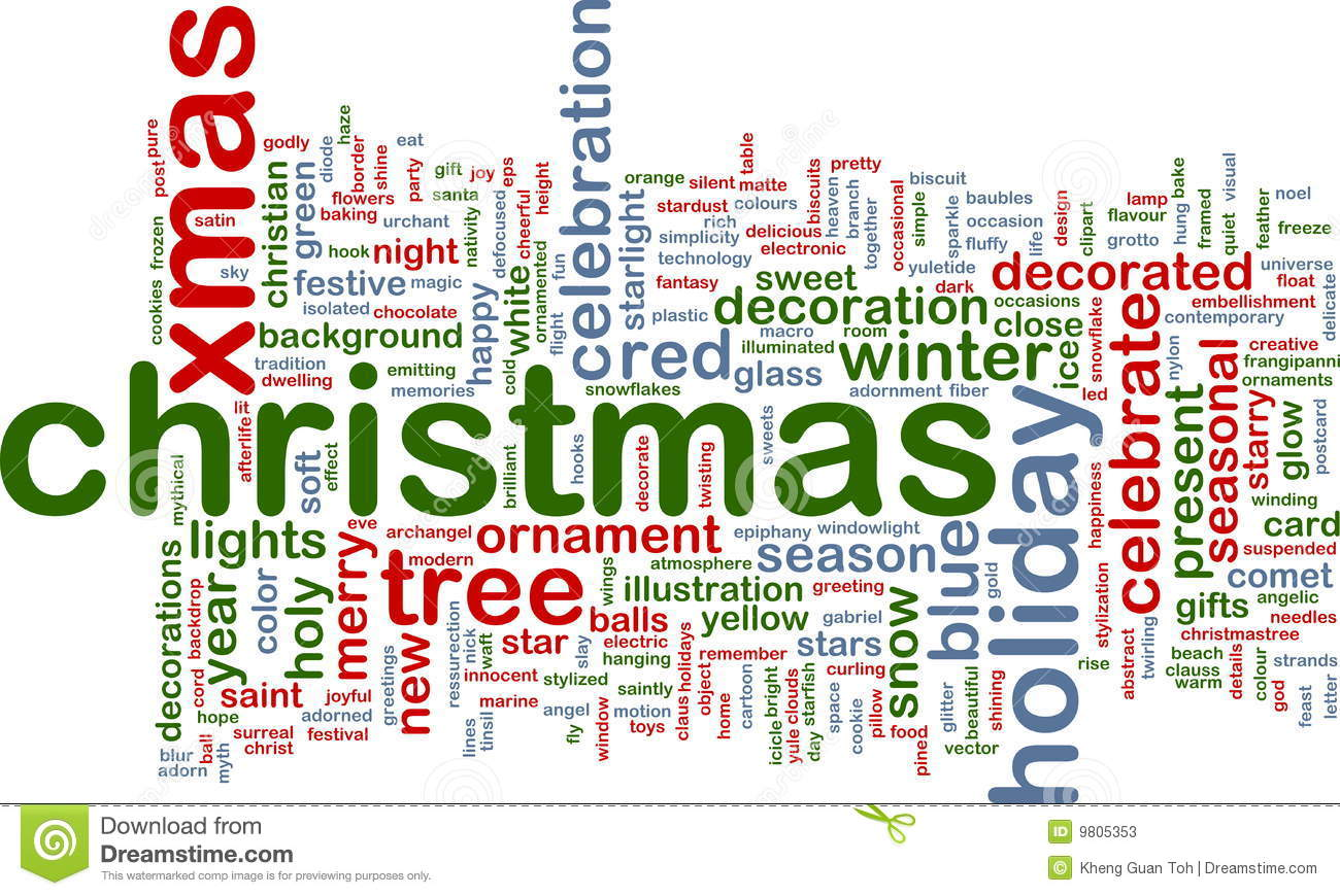 Christmas Word Cloud Stock Illustration. Image Of Winter