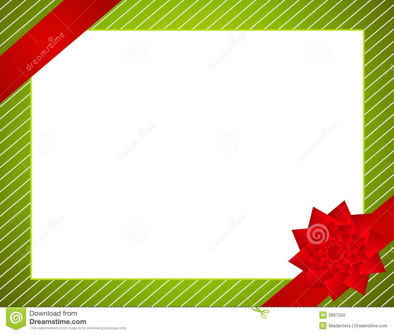 Christmas Wrap And Bow Border Stock Photo - Image: 3667550