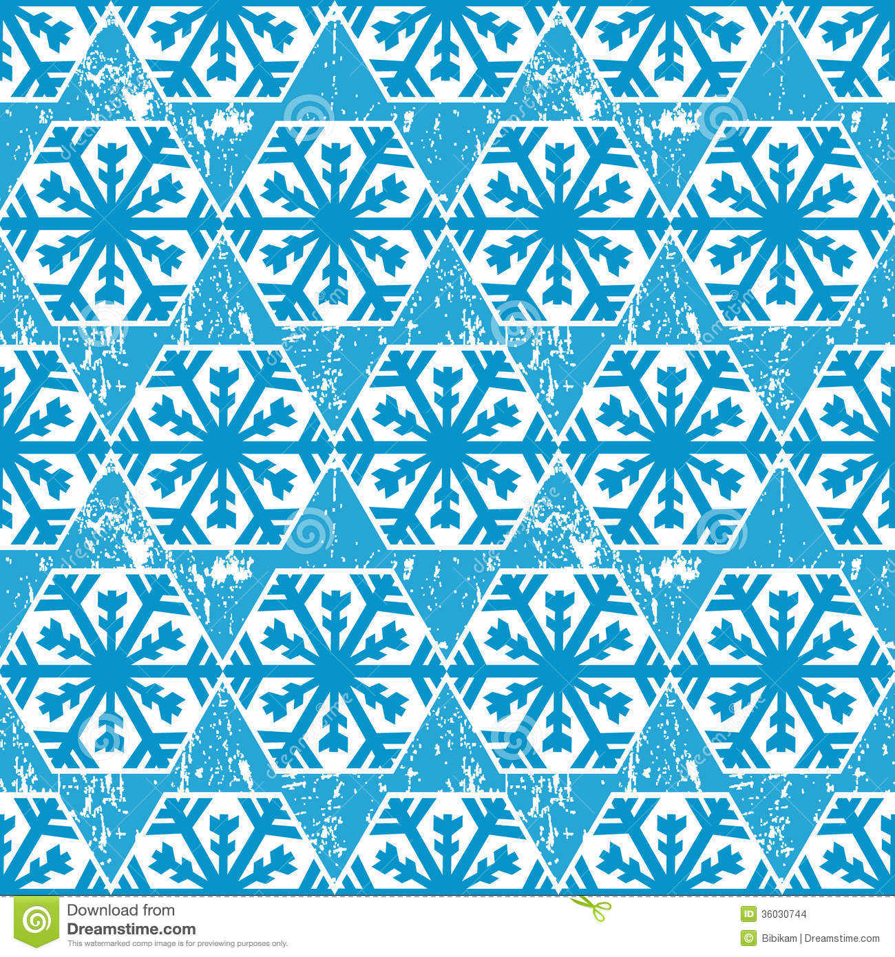 Christmas wrapping paper pattern, background with abstract snowflakes.