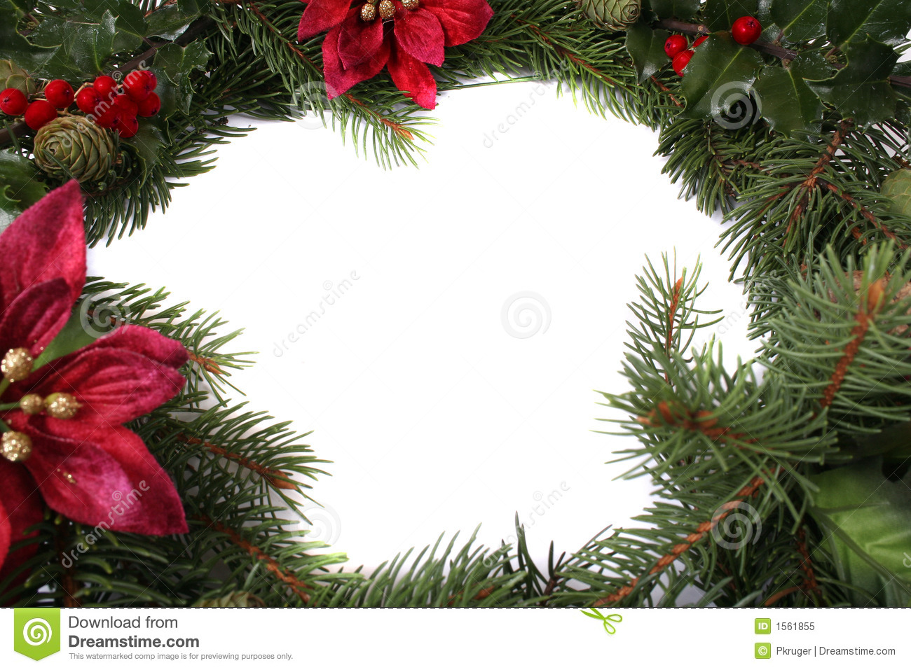Christmas Wreath stock image. Image of leaf, background - 1561855