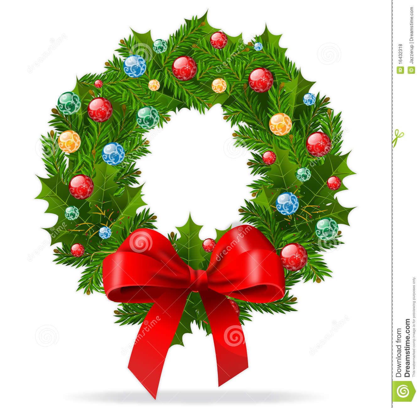 Christmas Wreath Royalty Free Stock Photos - Image: 16432318