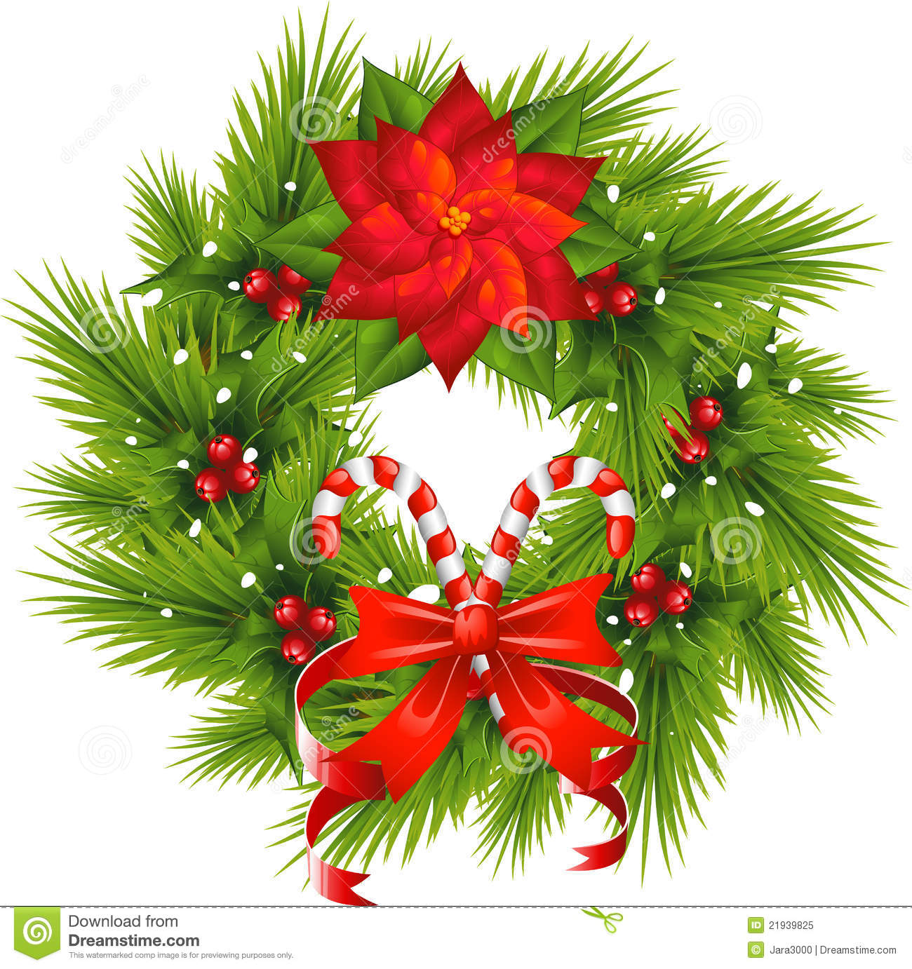 Christmas Wreath stock vector. Illustration of ...