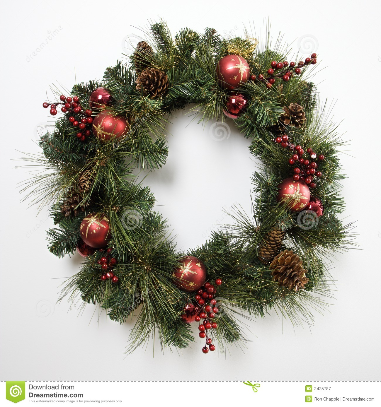 christmas wreath royalty free stock photography image 2425787