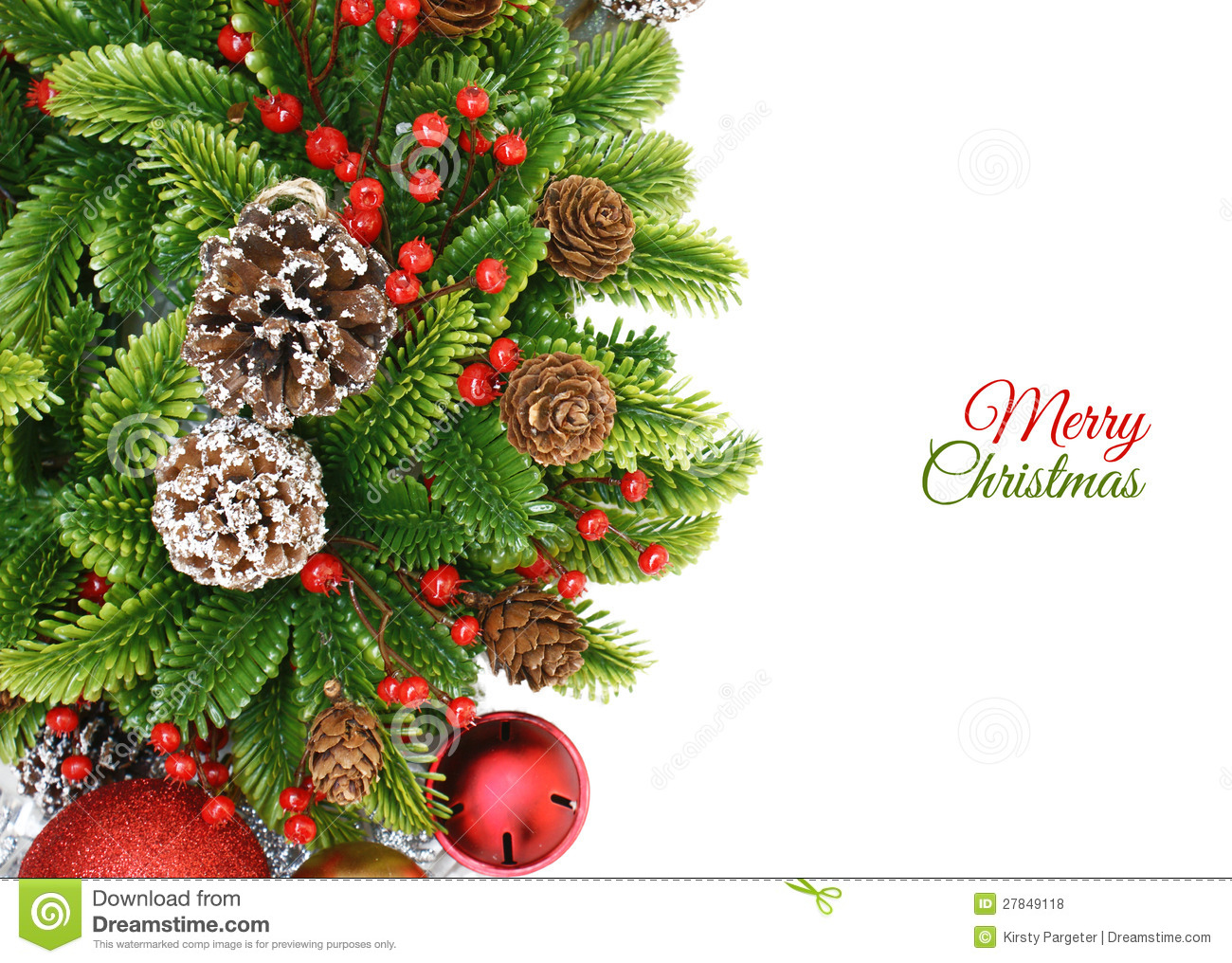 Christmas Wreath Background Stock Illustration ...
