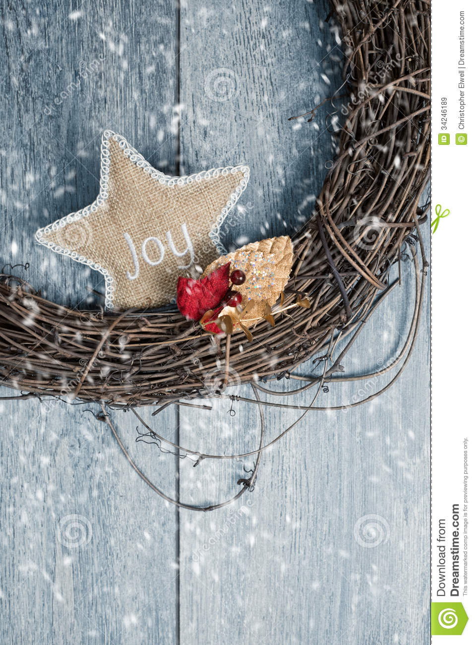 Christmas Wreath Royalty Free Stock Images Image 34246189