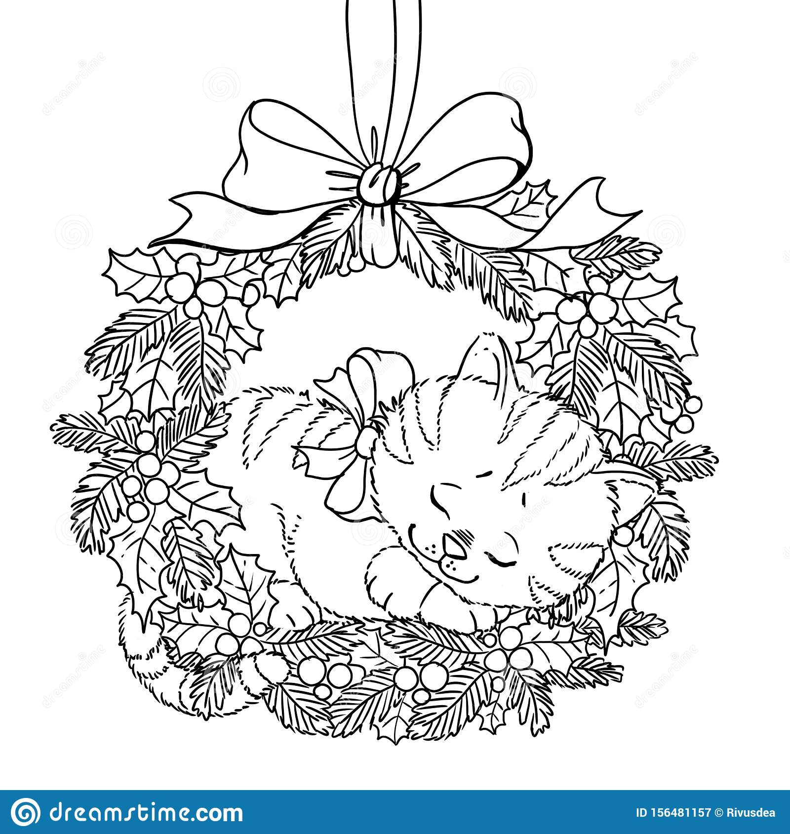 Ornament Wreath Coloring Page - Free Christmas Recipes, Coloring ... | 1689x1600