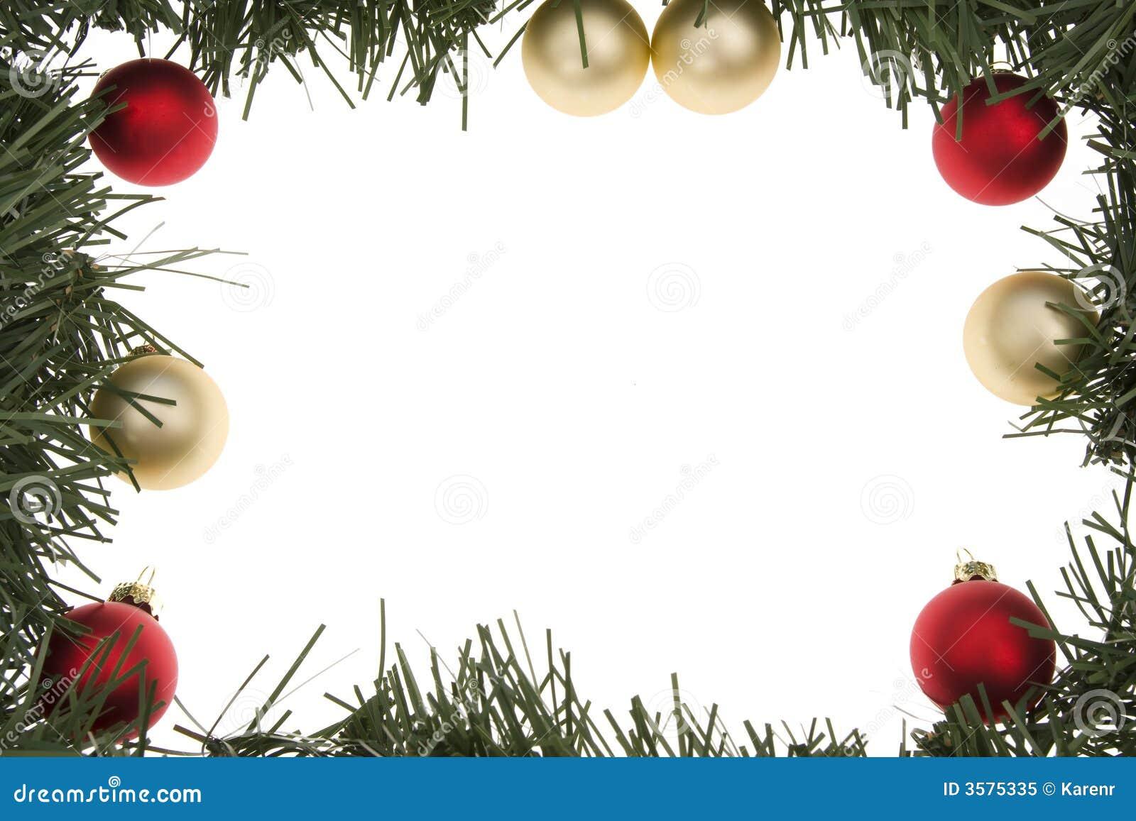 Christmas Wreath Frame Royalty Free Stock Photo - Image: 3575335