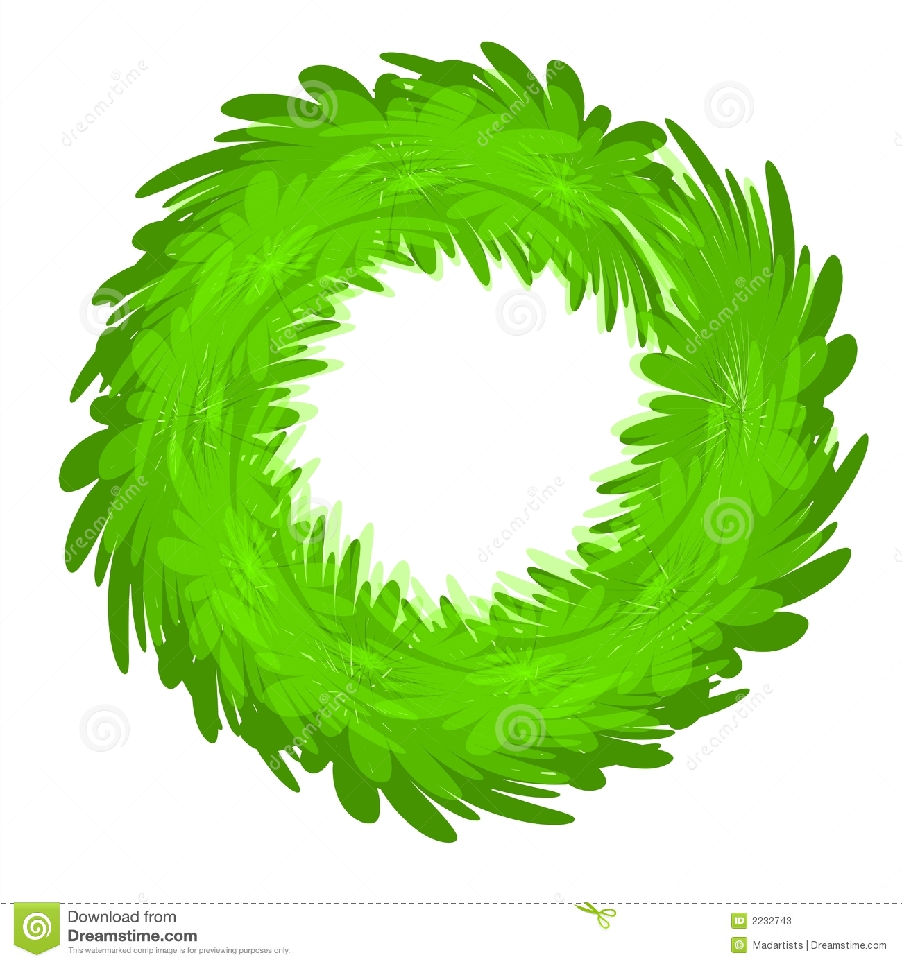Sometimes all you want is a basic blank green wreath to add your own ...