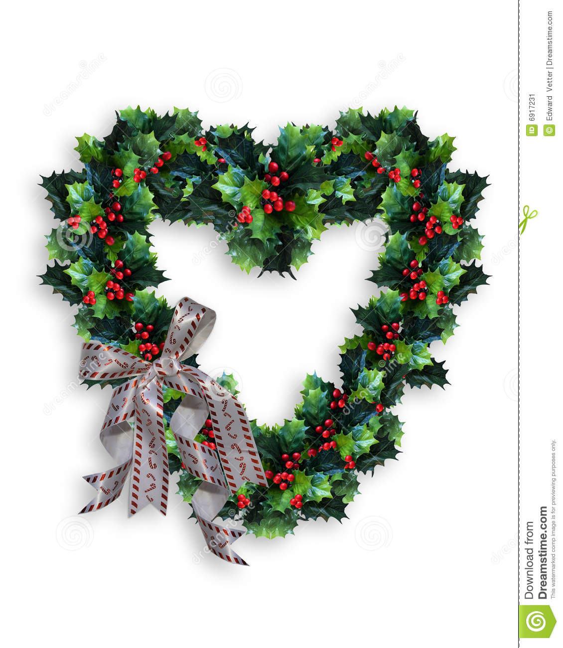 ... in the shape of a heart for Christmas Card, background or clip art
