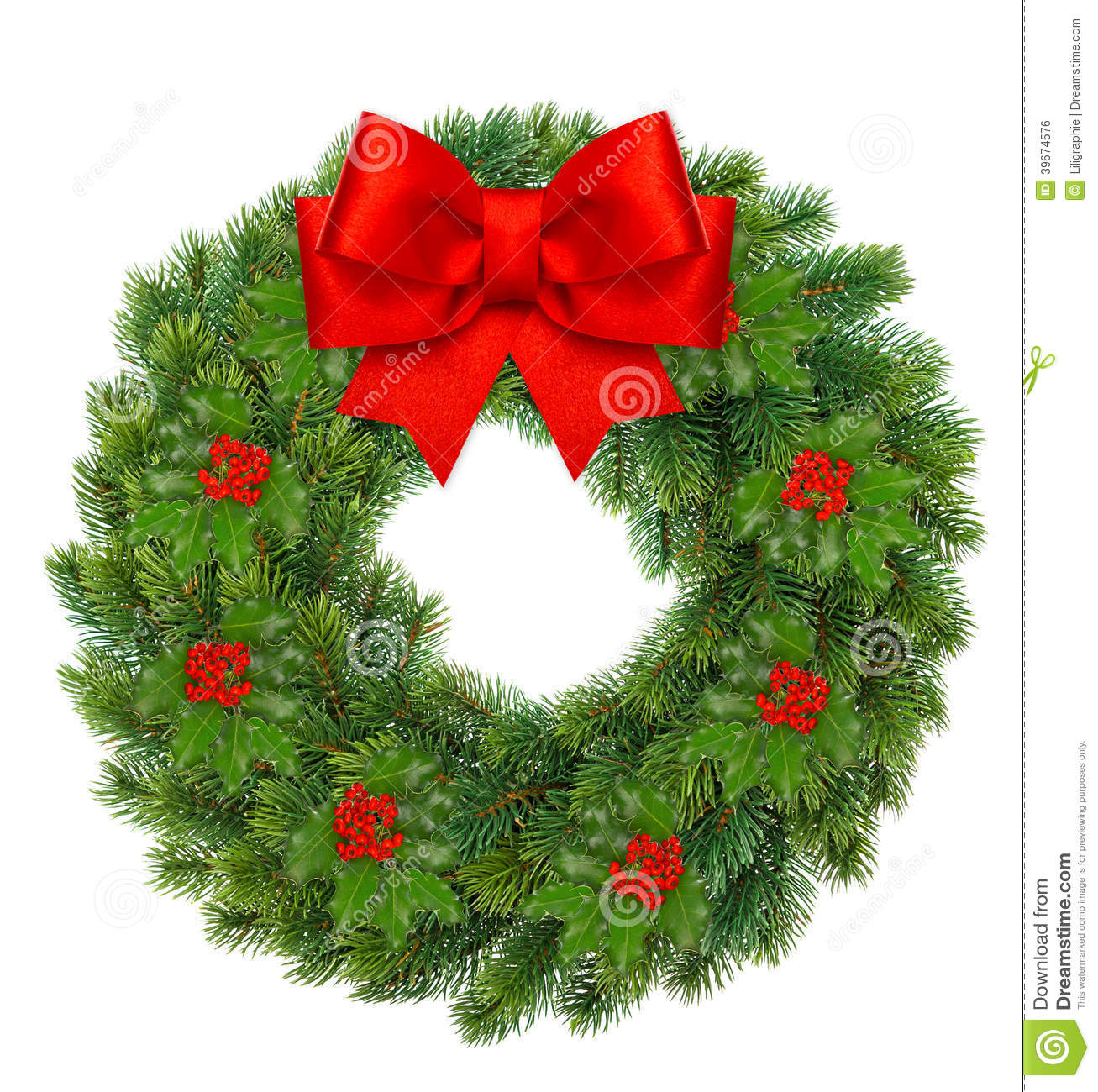 Why is holly a traditional christmas decoration - Royalty Free Stock Photo Download Christmas Wreath With Holly