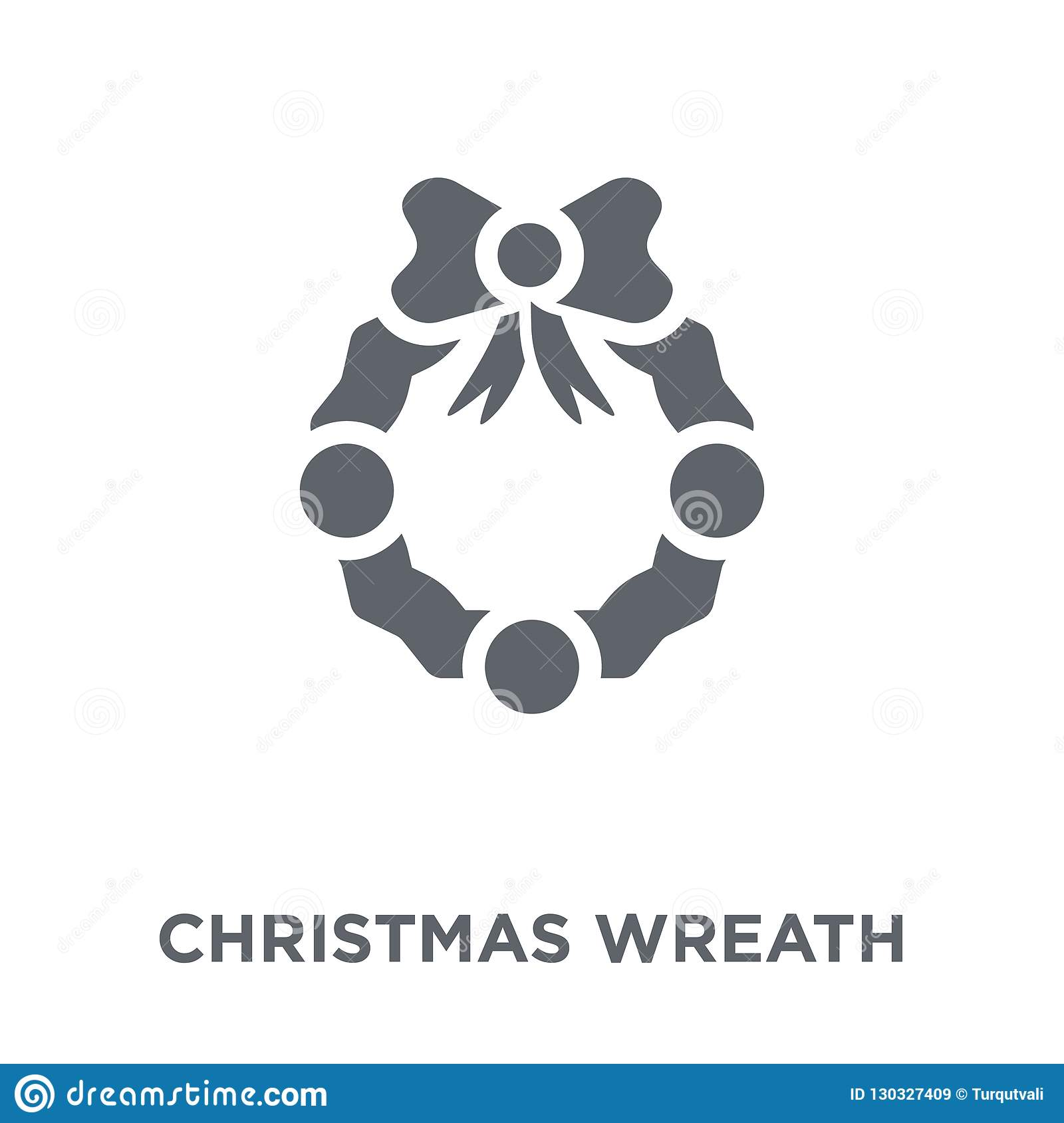 Christmas Wreath Icon From Christmas Collection Stock Vector