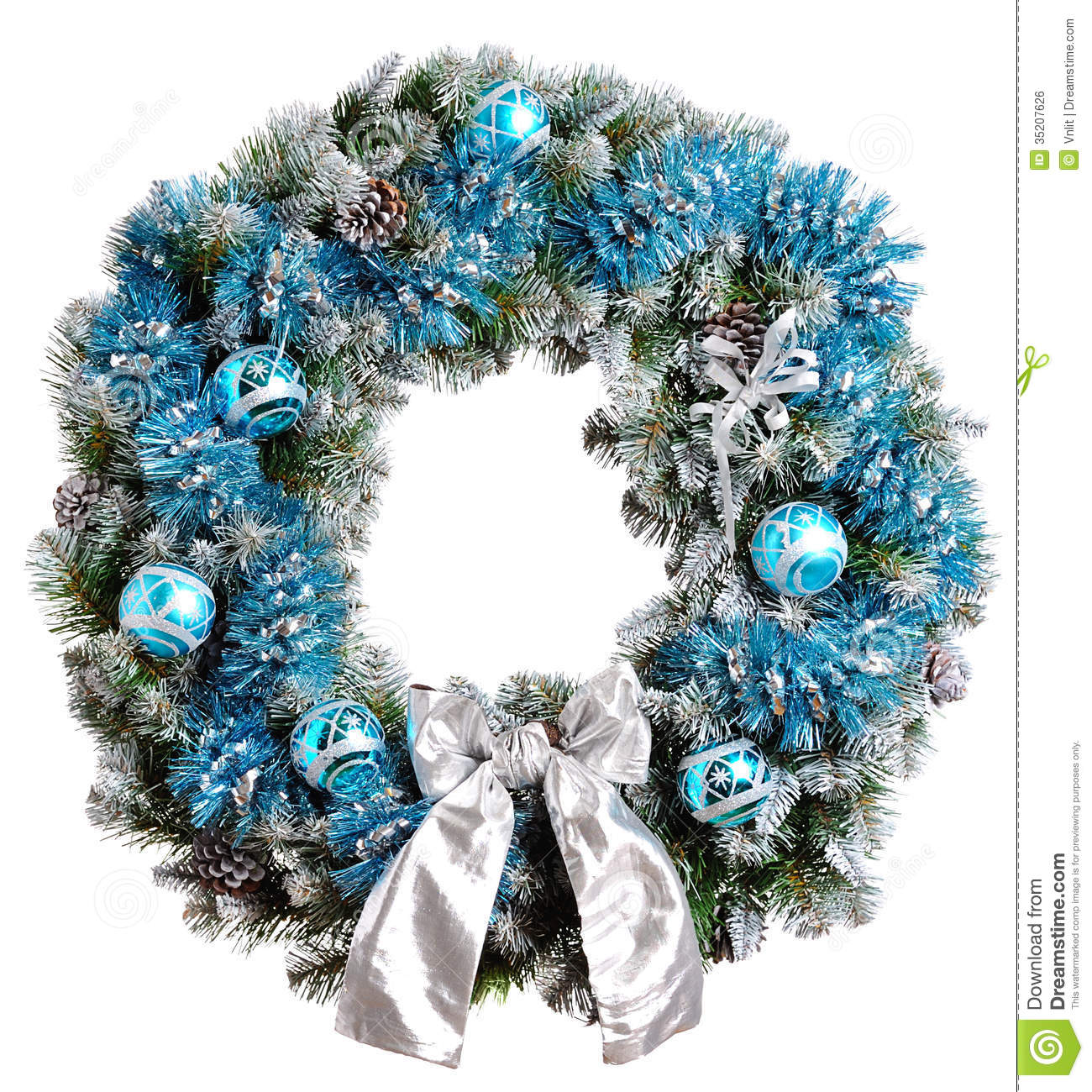 download christmas wreath stock photo image of advent object 35207626 - Blue Christmas Wreath