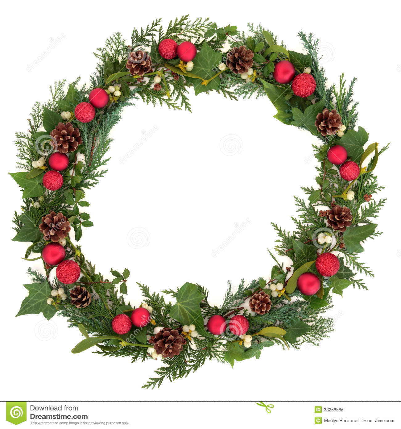Christmas Wreath Royalty Free Stock Image Image 33268586