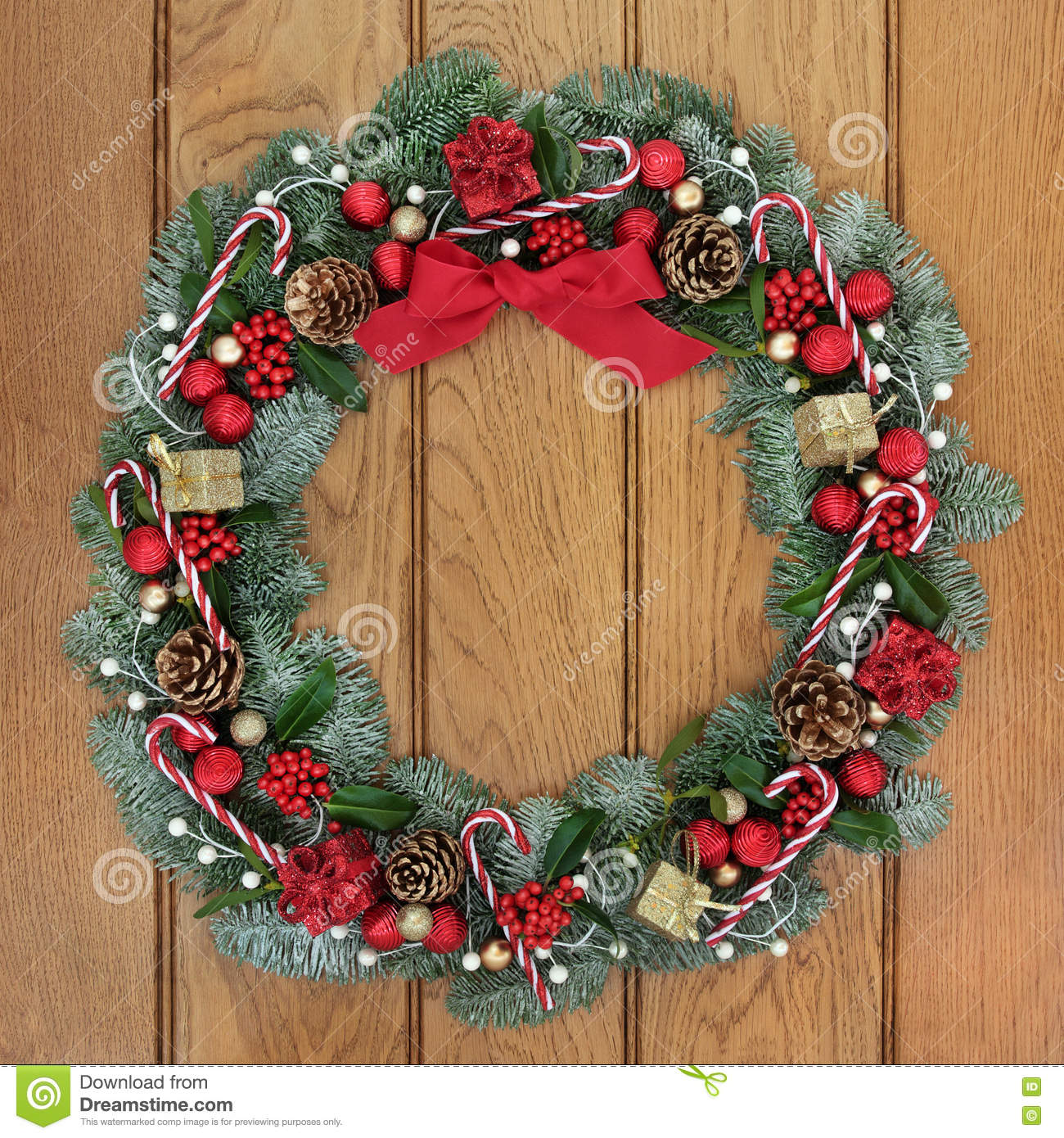 christmas wreath welcome decoration