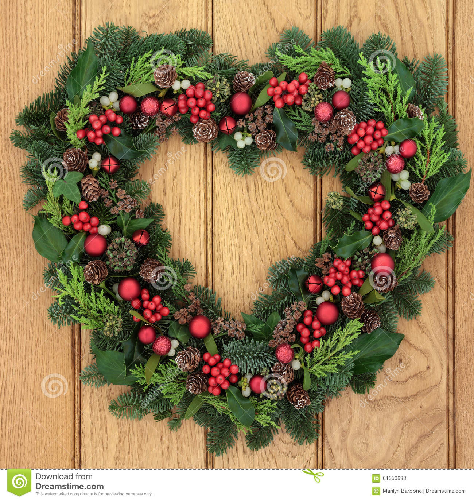 Christmas Wreath Stock Photo - Image: 61350683
