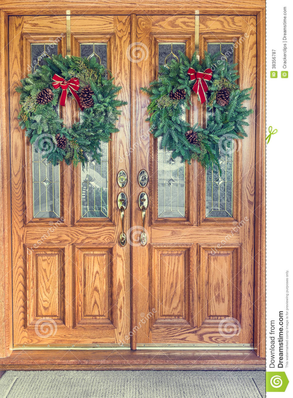 Christmas Door Doors Double Front ...