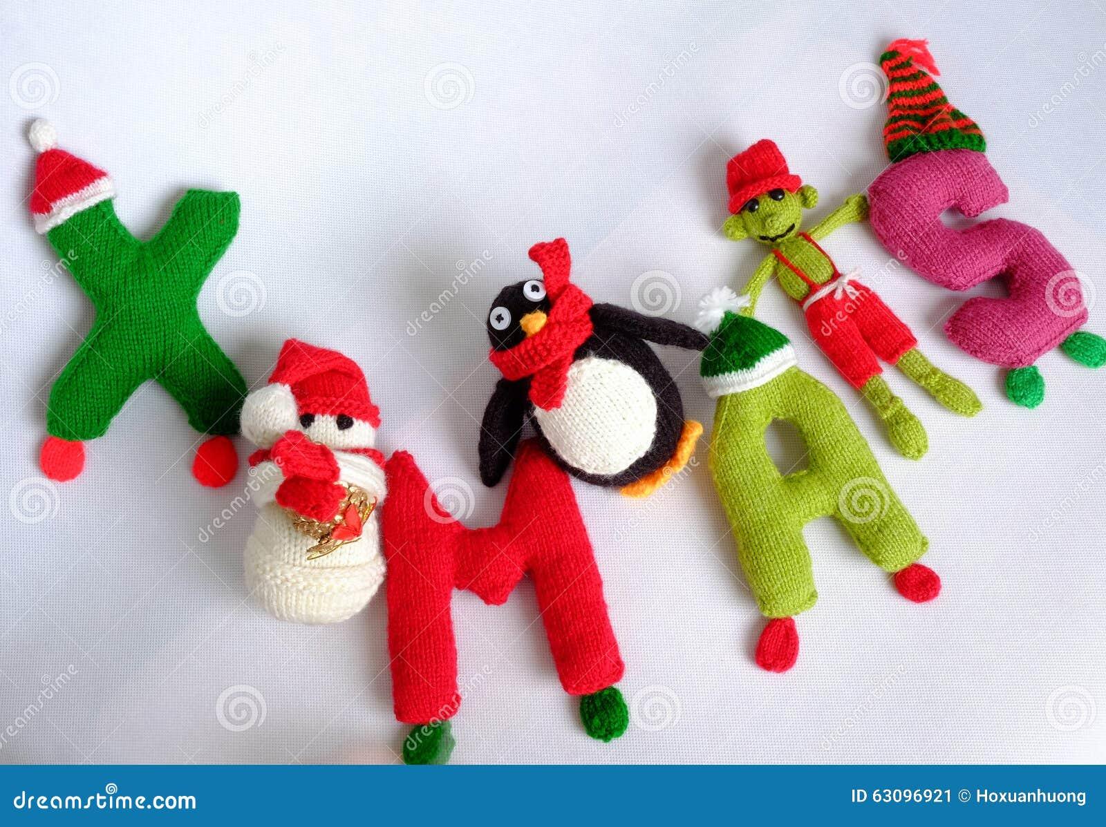 Alphabet Noel christmas, xmas alphabet, handmade, knitted, noel gift stock image