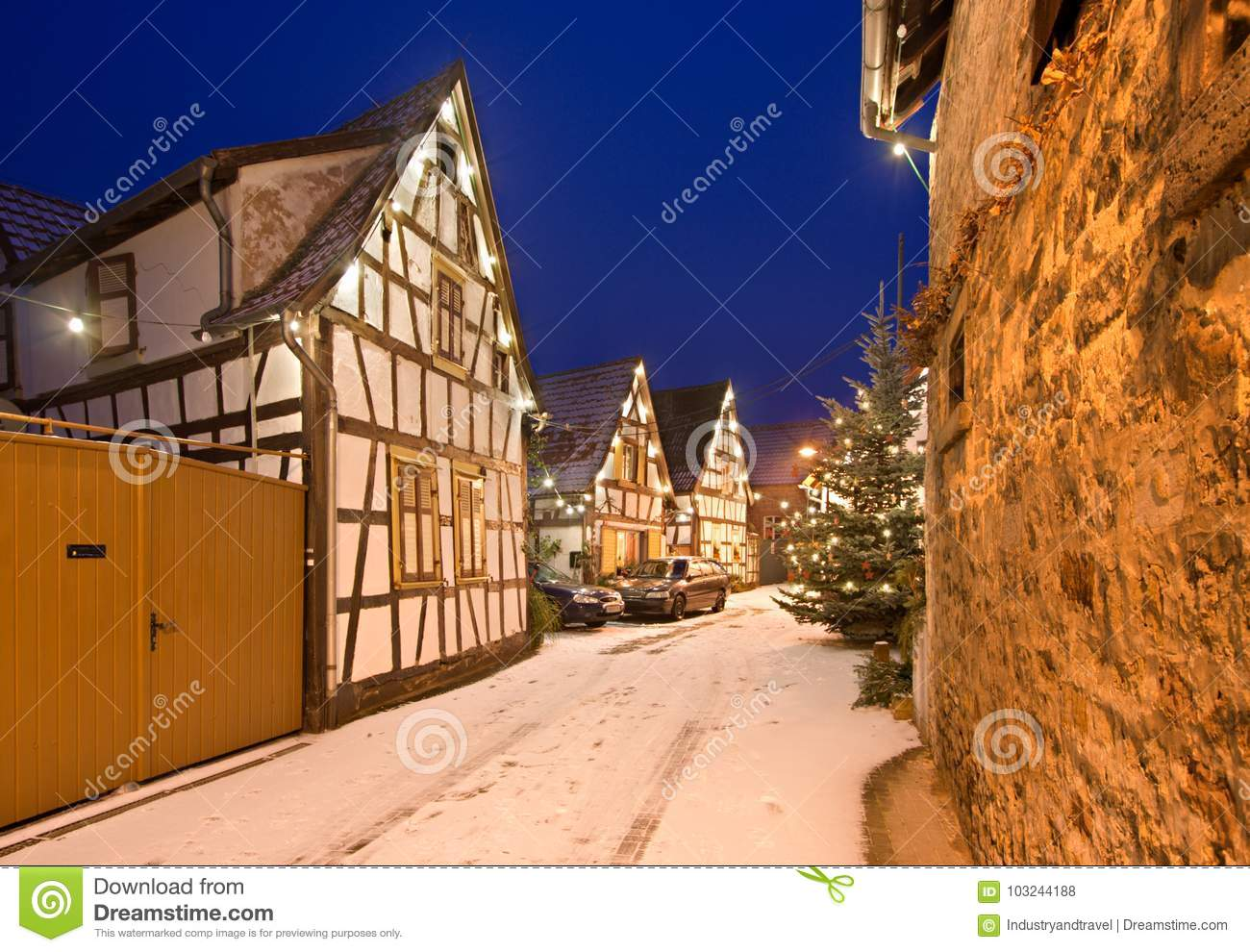 Christmas Village In Germany.Christmas Village Germany Stock Photo Image Of Germany