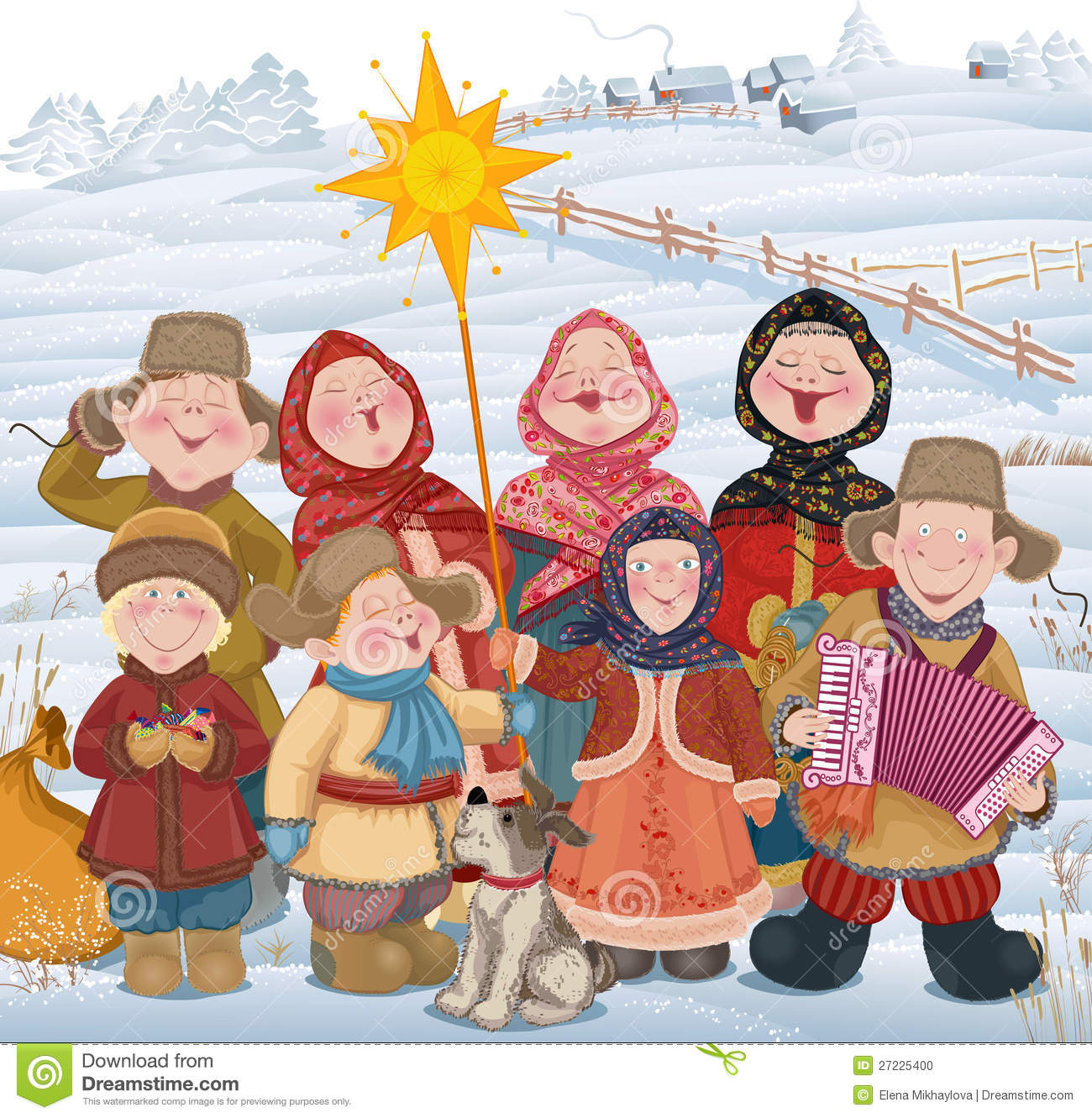 Christmastide in Russland