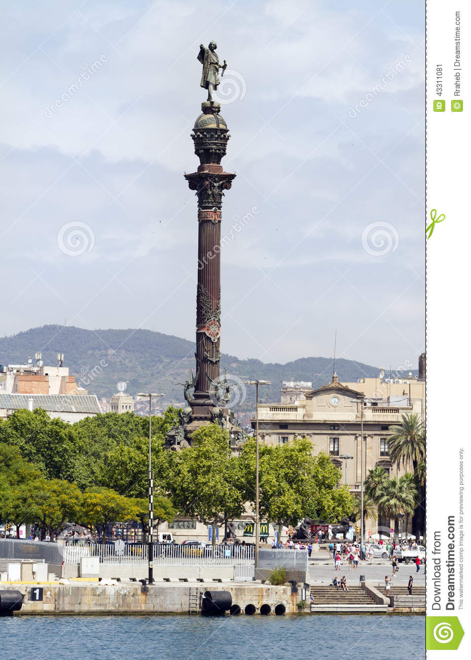 Christopher Columbus Colon - Barcelona Editorial Photo - Image ...