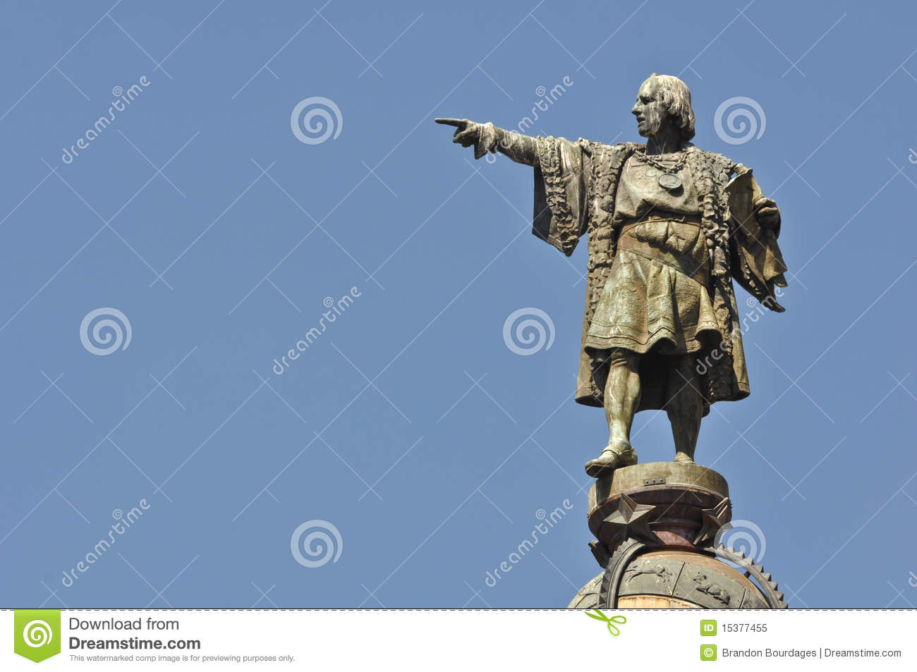 Christopher Columbus Day Statue Royalty Free Stock Photo - Image ...