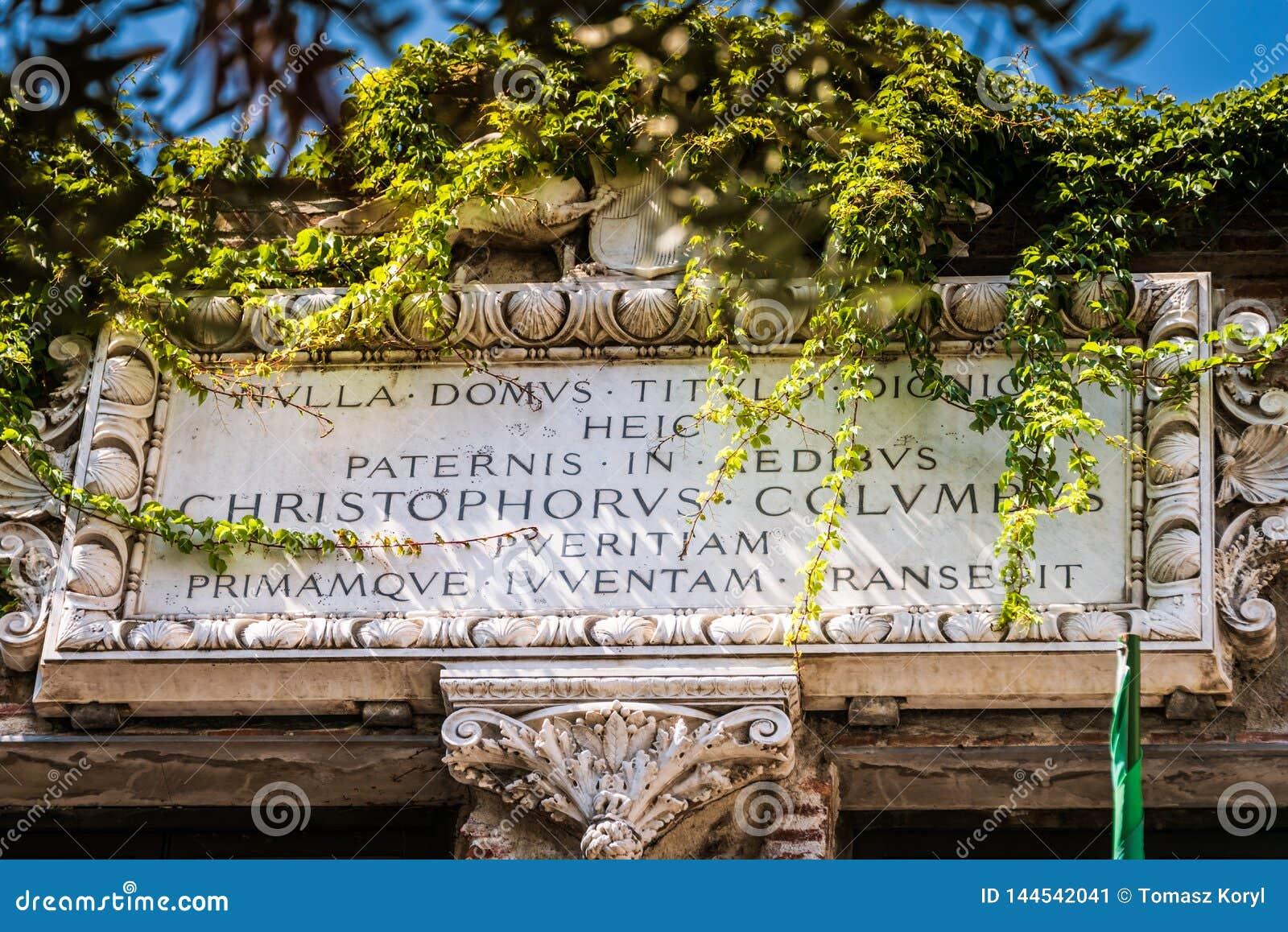 Christopher Columbus House, Genua - Casa Di Cristoforo Colombo, Genua, Italië, Europa