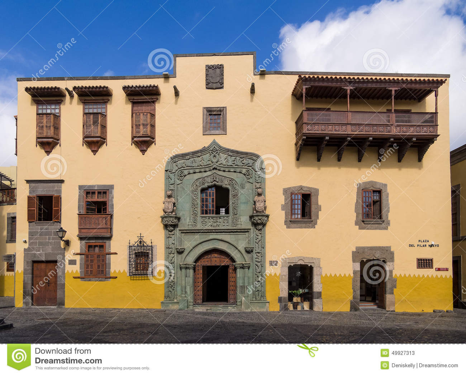 Christopher Columbus House Las Palmas De Gran Canaria Editorial Stock Photo -...