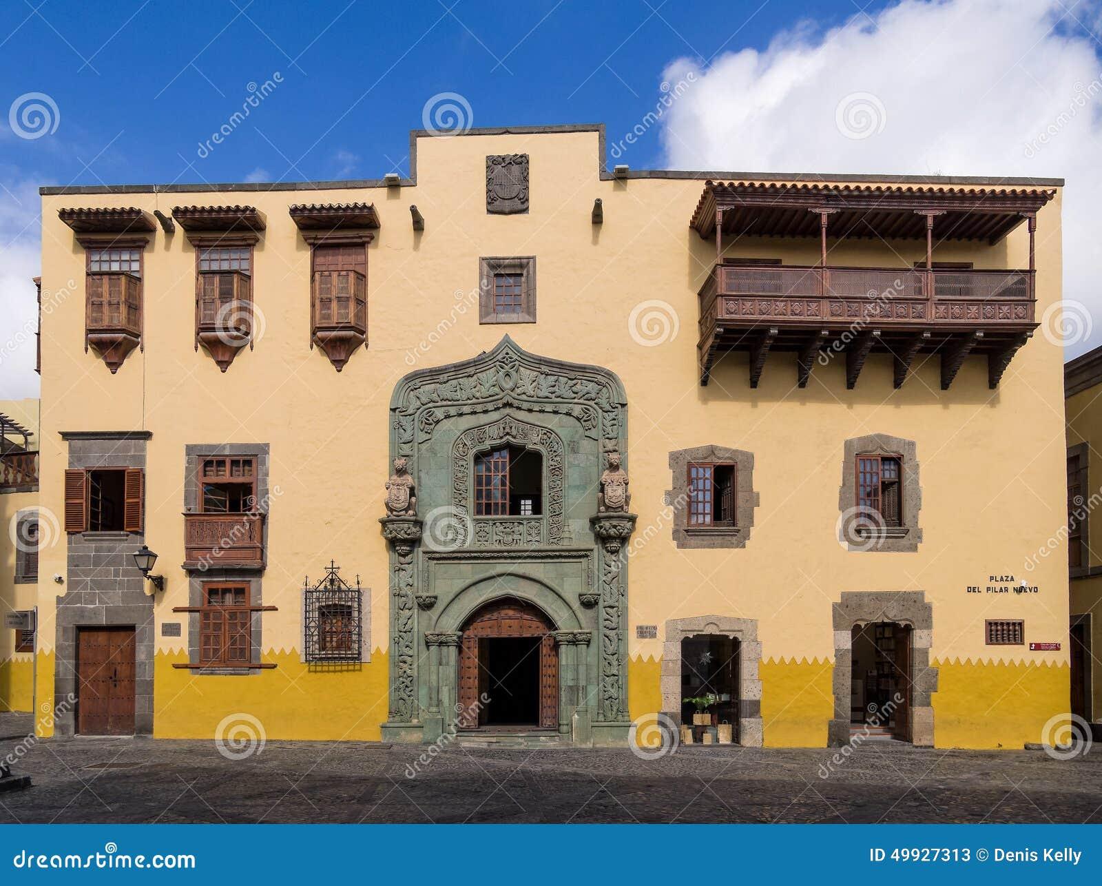 Christopher columbus house las palmas de gran canaria editorial stock photo image 49927313 - Apartamentos puerto rico las palmas ...