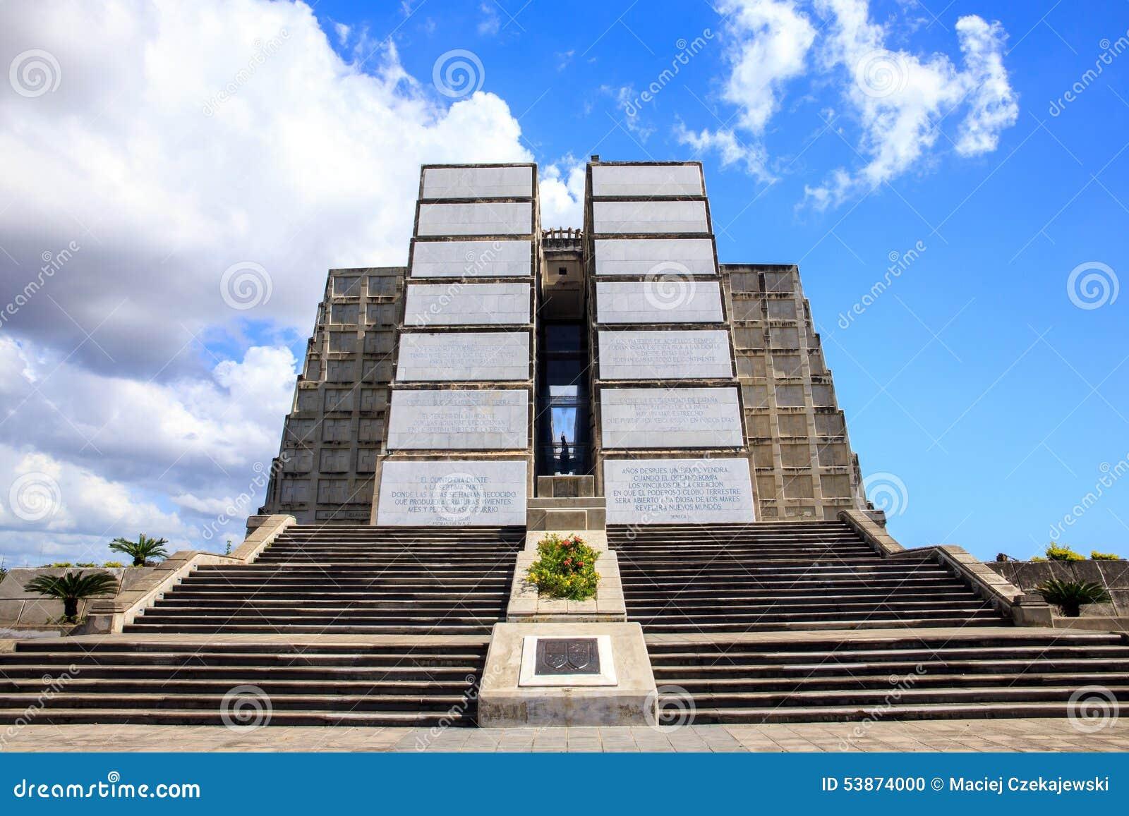 Christopher Columbus Lighthouse In Santo Domingo Stock