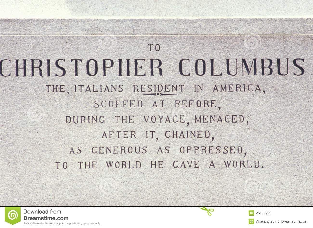 Christopher Columbus Plaque Royalty Free Stock Images   Image     Dreamstime com