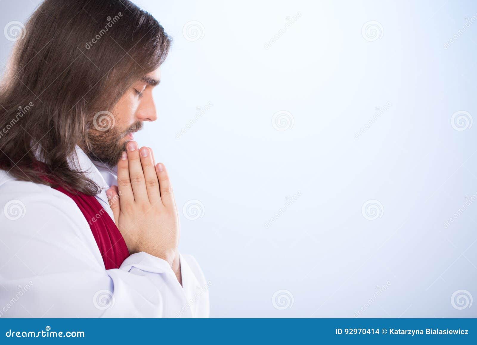 Christus, der mit geschlossenen Augen betet