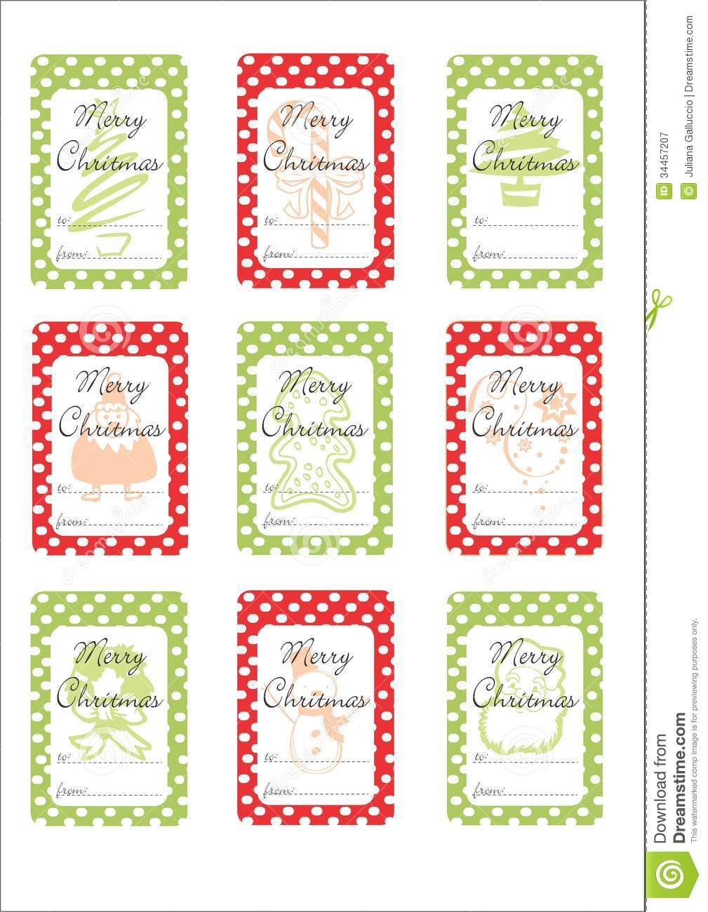 Chritmas Gift Tags Royalty Free Stock Photography - Image: 34457207
