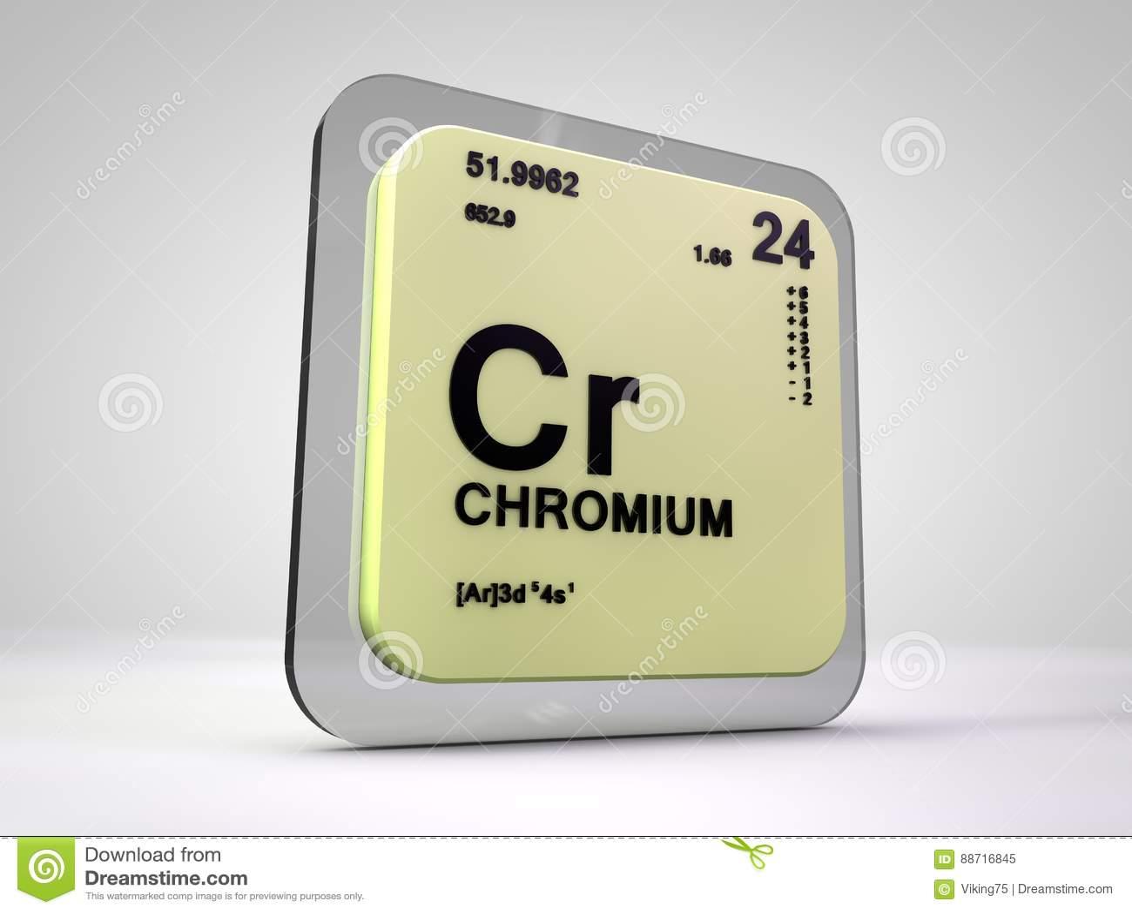 Chrom - Cr - Periodensystem des chemischen Elements