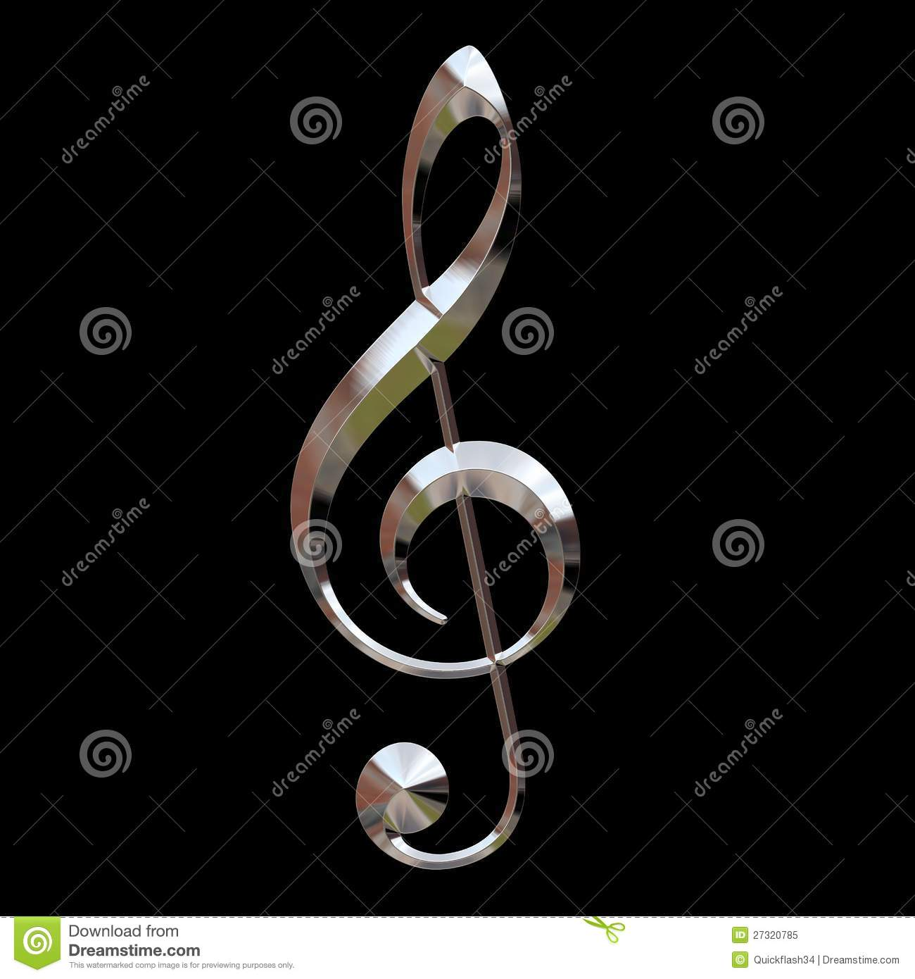 Chrom dreifacher Clef