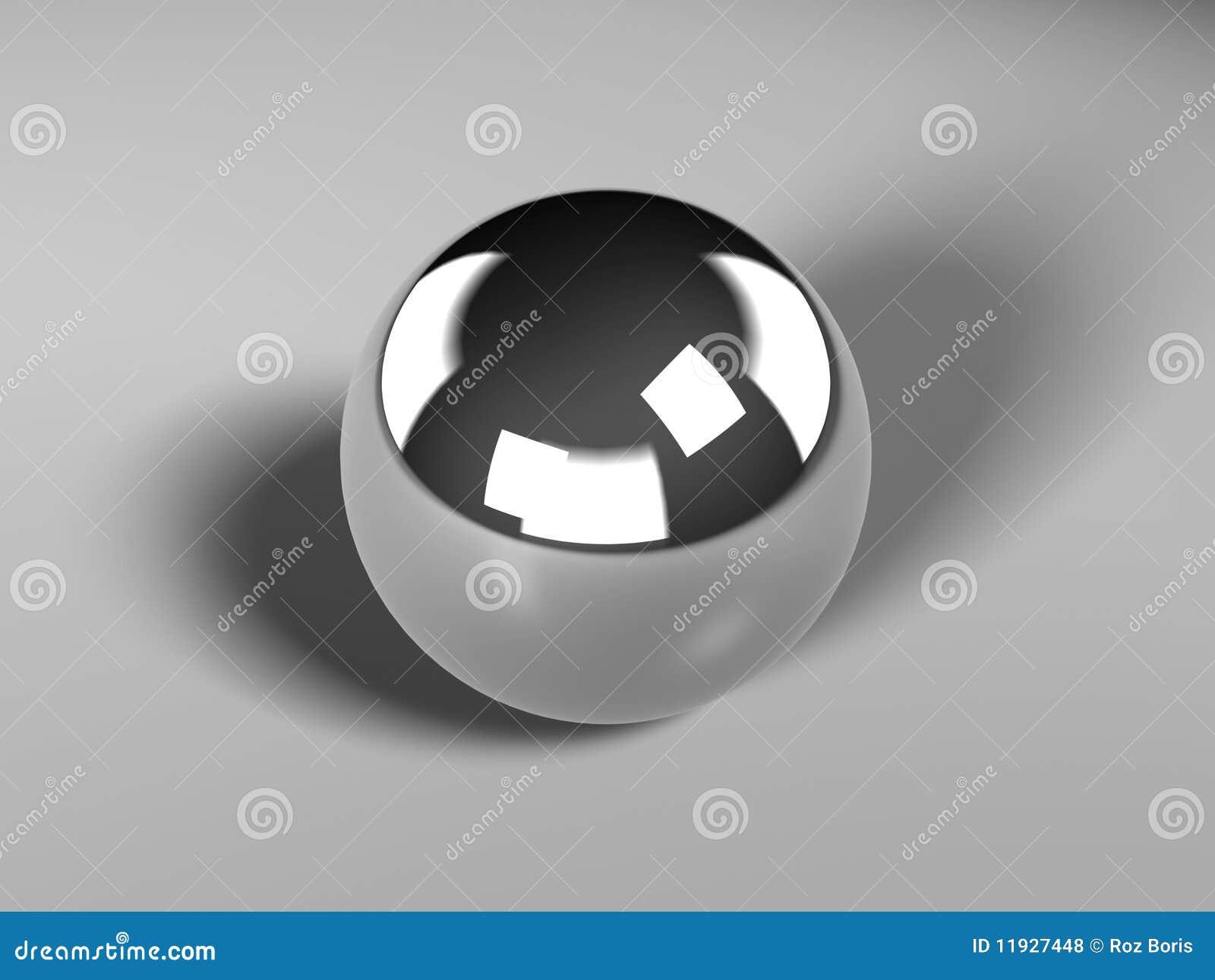 Chrome Ball Stock Illustration Illustration Of Silver